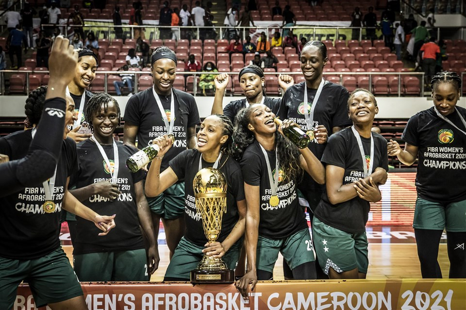 Nigeria followed up victories in 2017 and 2019 to win a third consecutive Women's AfroBasket title ©fiba.basketball