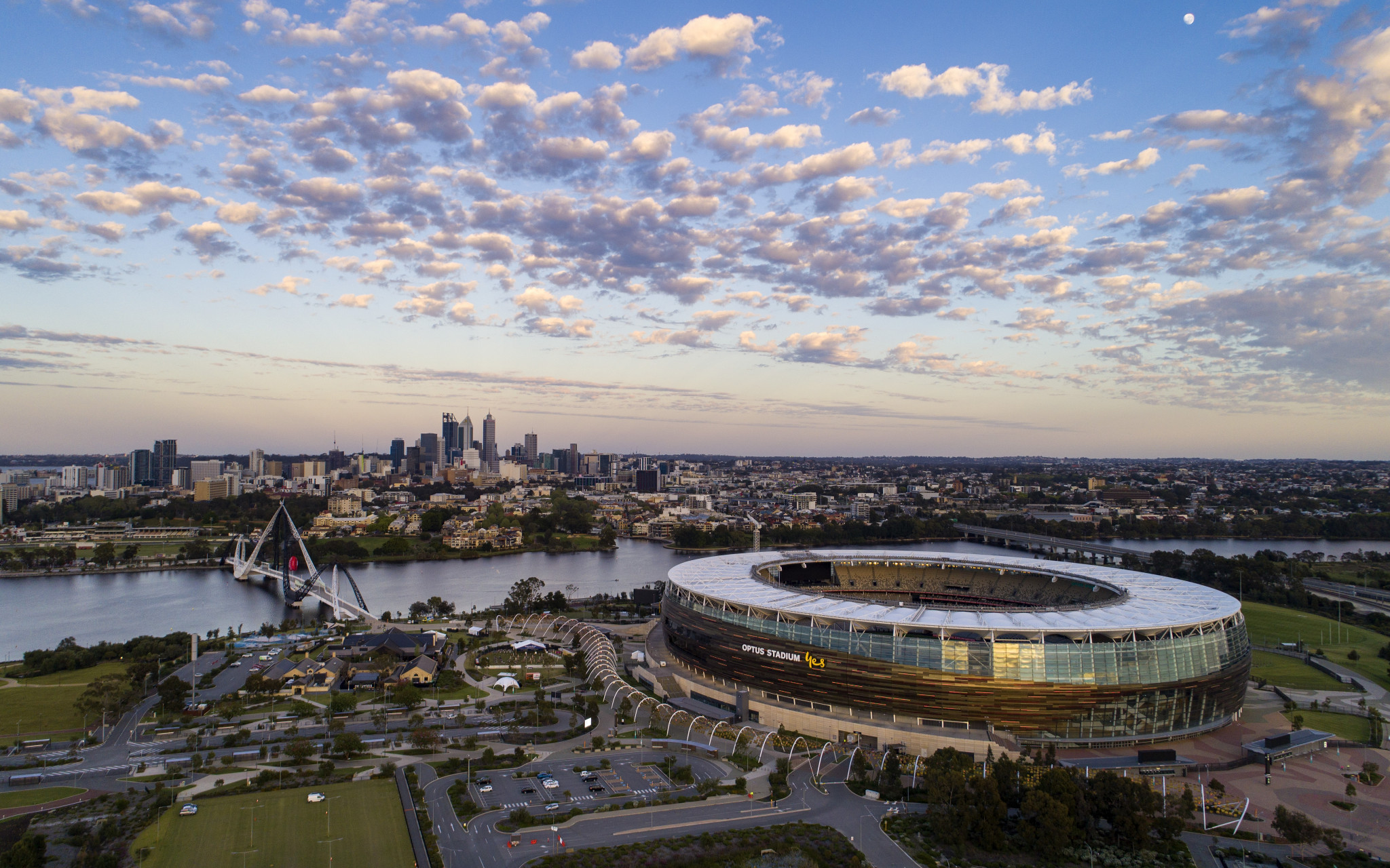 Optus Stadium, which was built in 2018, would likely act as the main venue if the city was successful in a 2026 Commonwealth Games bid ©Getty Images