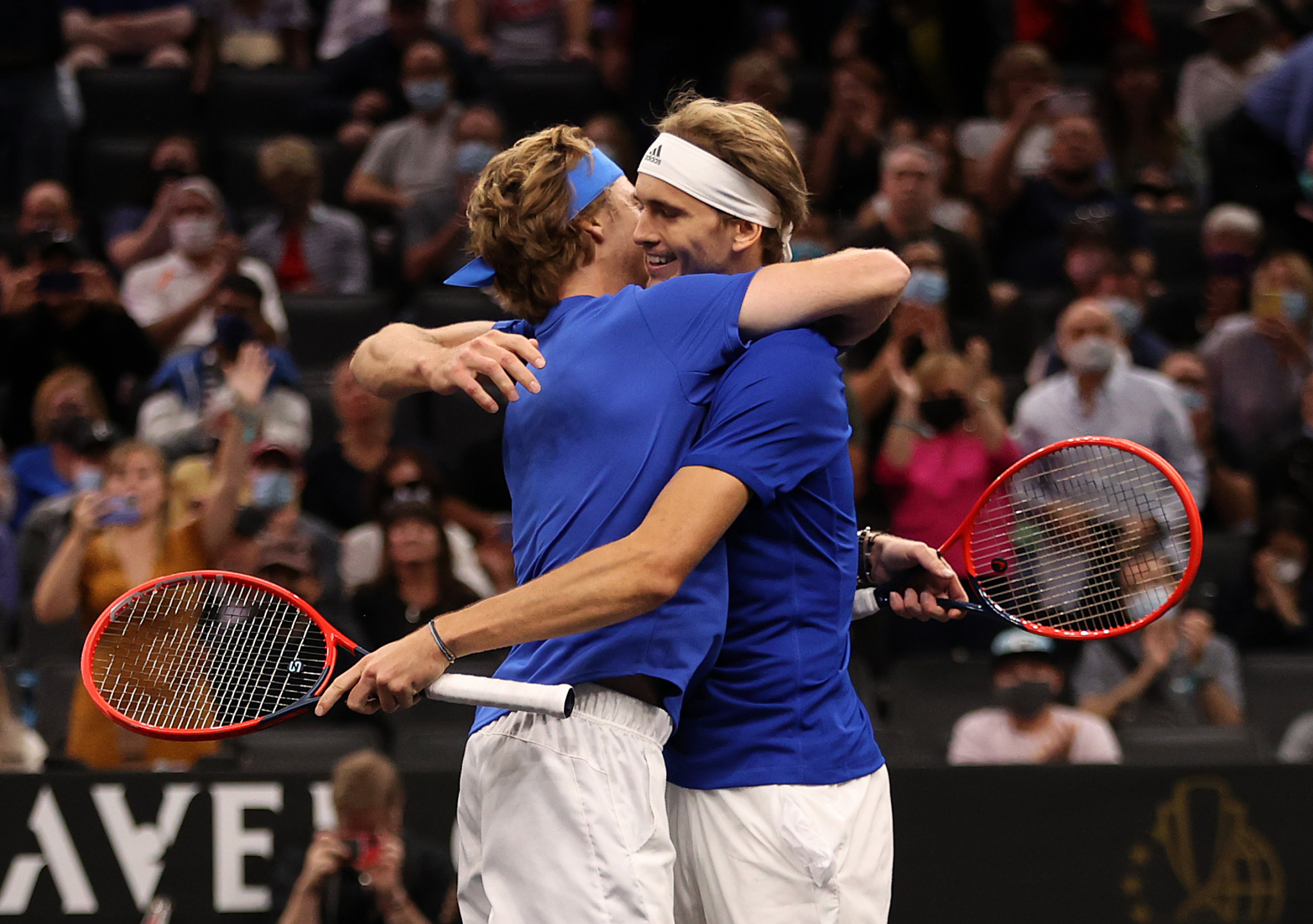 Russia's Andrey Rublev and Germany's Alexander Zverev won the final men's doubles match to seal victory ©Getty Images