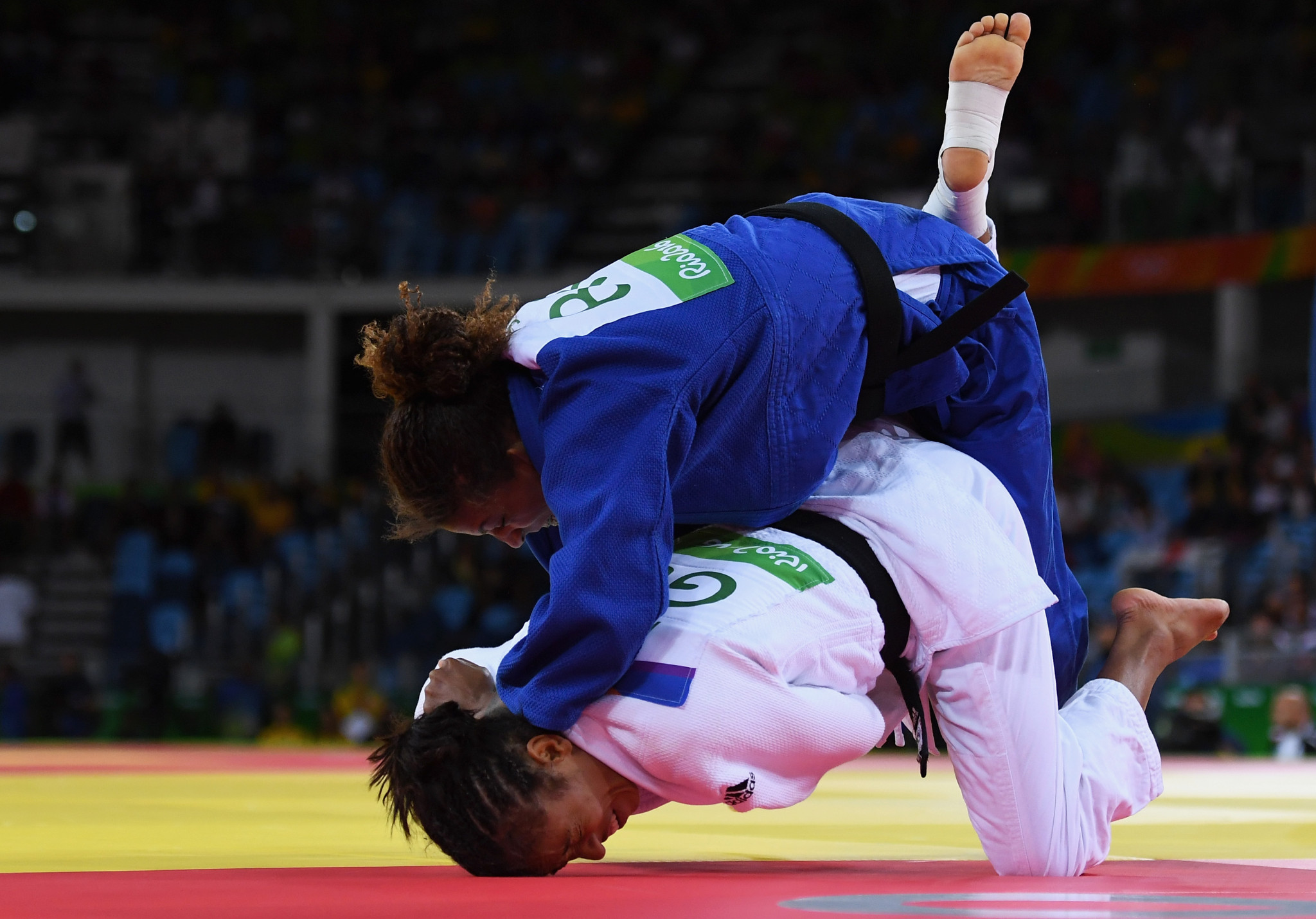 Rafaela Silva, in blue, can return to action following a two-year doping ban ©Getty Images