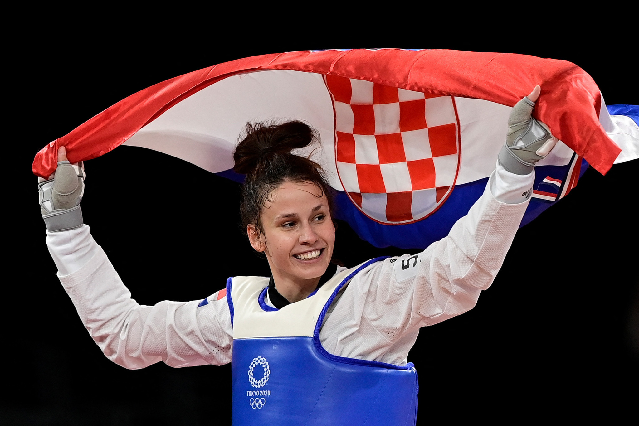 Matea Jelić won Olympic gold at Tokyo 2020 in the final moments of her final ©Getty Images