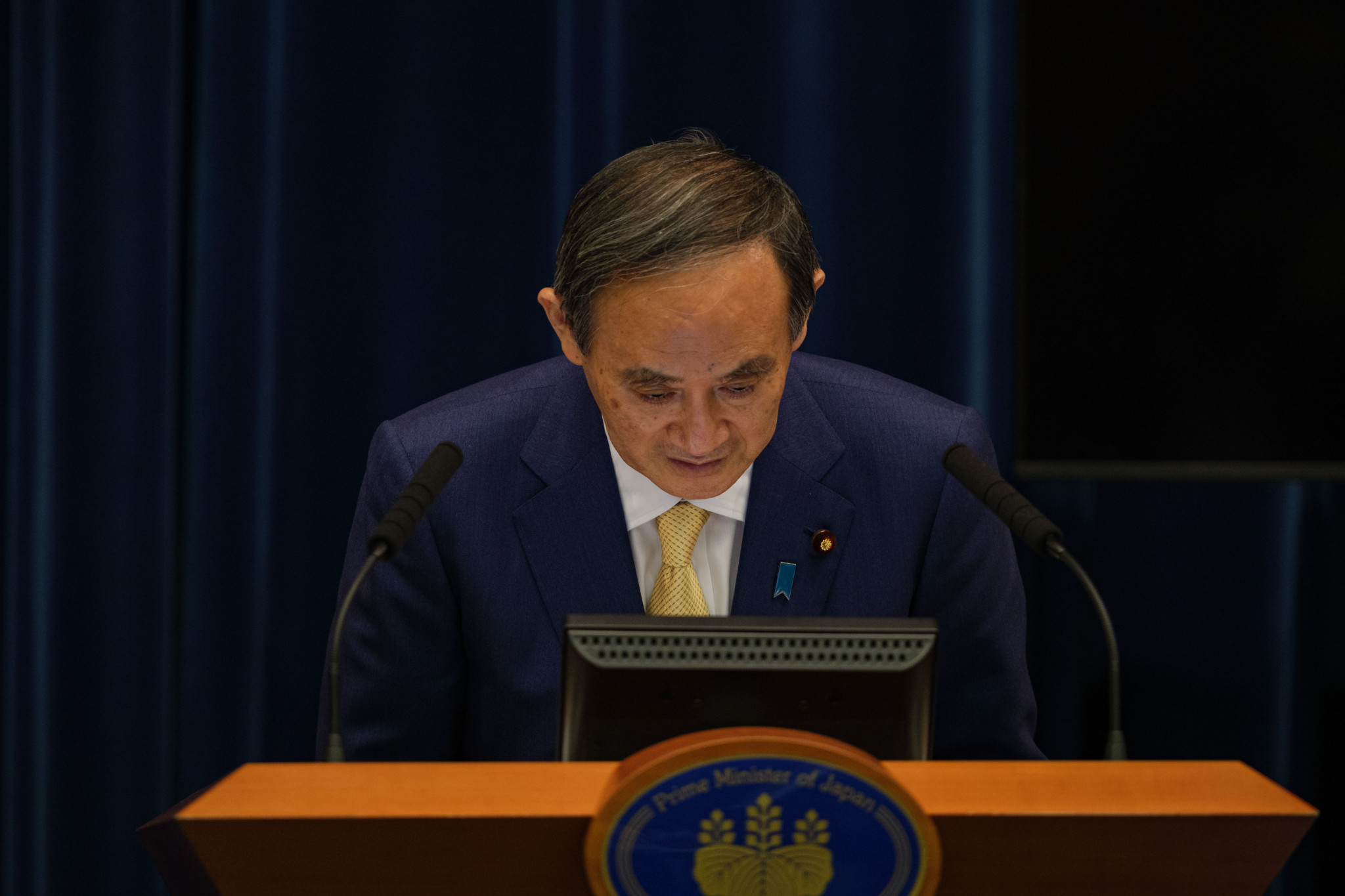 Japanese Prime Minister Yoshihide Suga gave equal part fine and sorry words at the United Nations General Assembly following the COVID-impacted Tokyo 2020 Olympic Games ©Getty Images