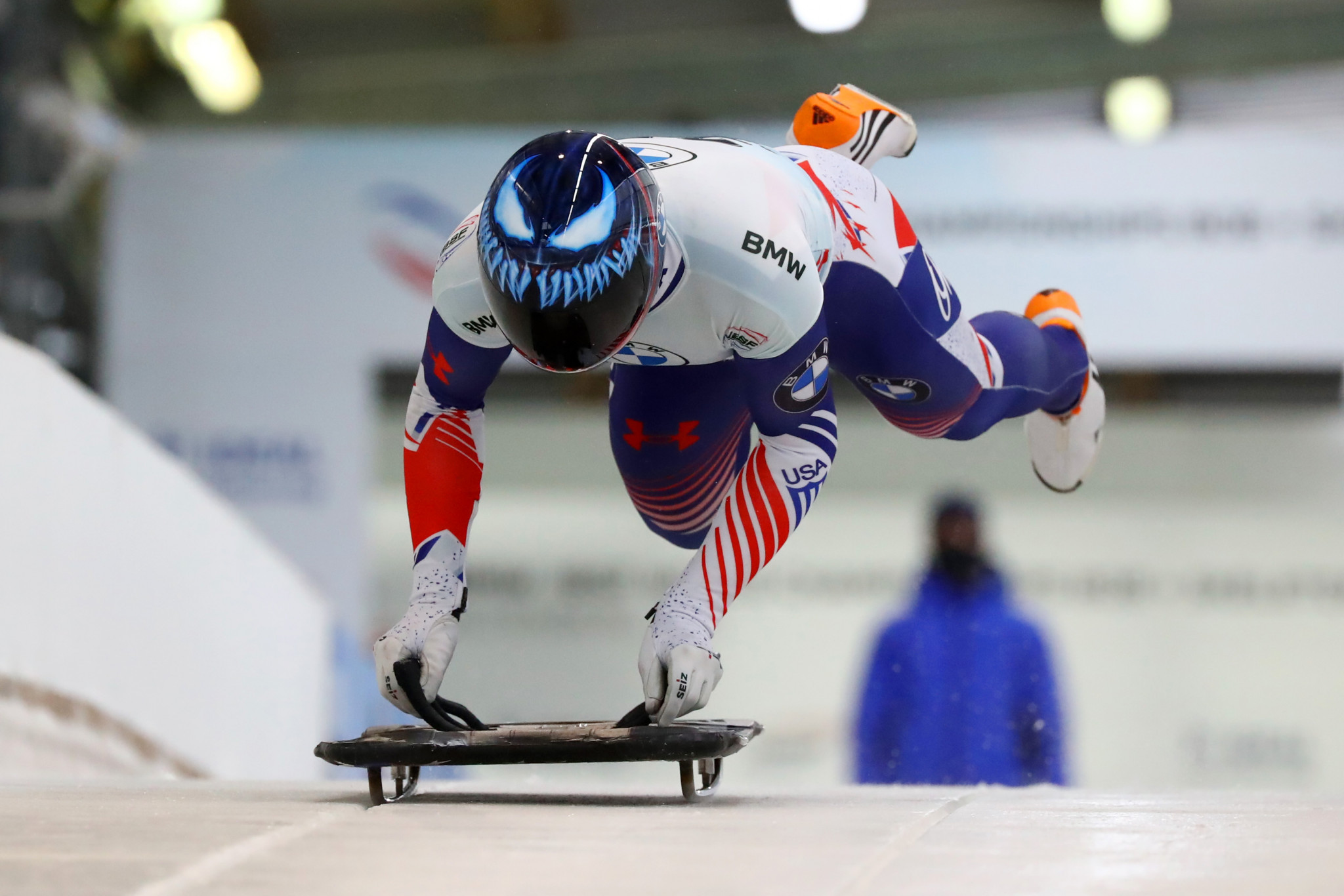 New iced start house used as Florian and Ro win USA Skeleton Push Championships