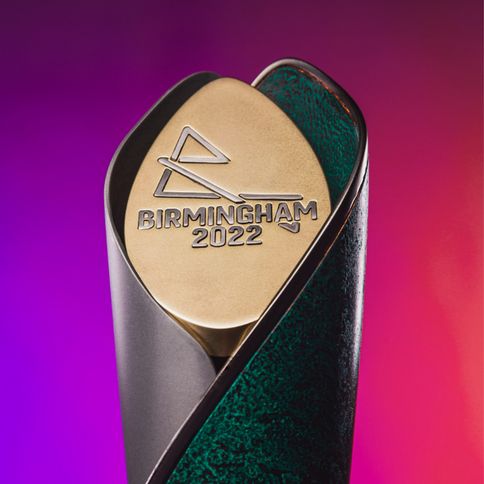The design of the Birmingham 2022 Baton is inspired by the Queen ©Birmingham 2022