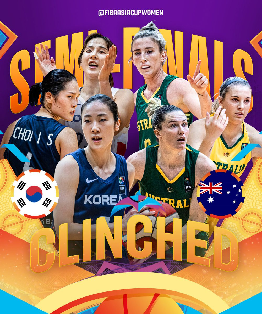 Australia and South Korea reach semi-finals at FIBA Women's Asia Cup