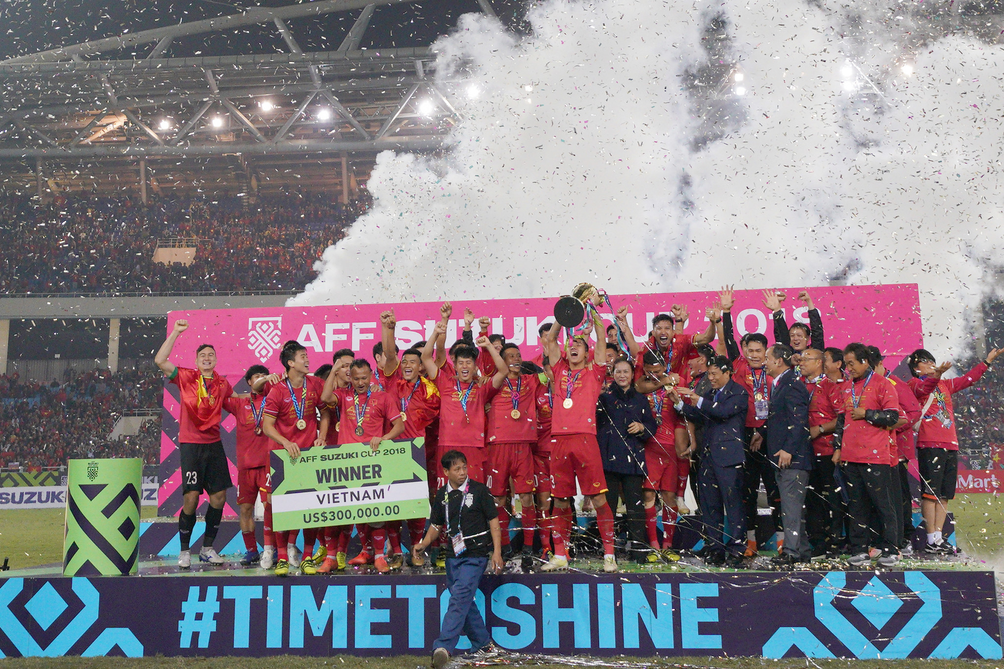 Vietnam are the defending champions of the AFF Championship, and the only nation in the top 100 of the FIFA men's world rankings set to take part ©Getty Images