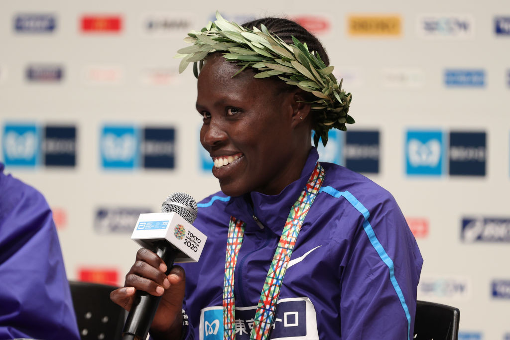 Israel's Lonah Salpeter, the second fastest runner in the women's field, will have a point to prove in tomorrow's London Marathon ©Getty Images