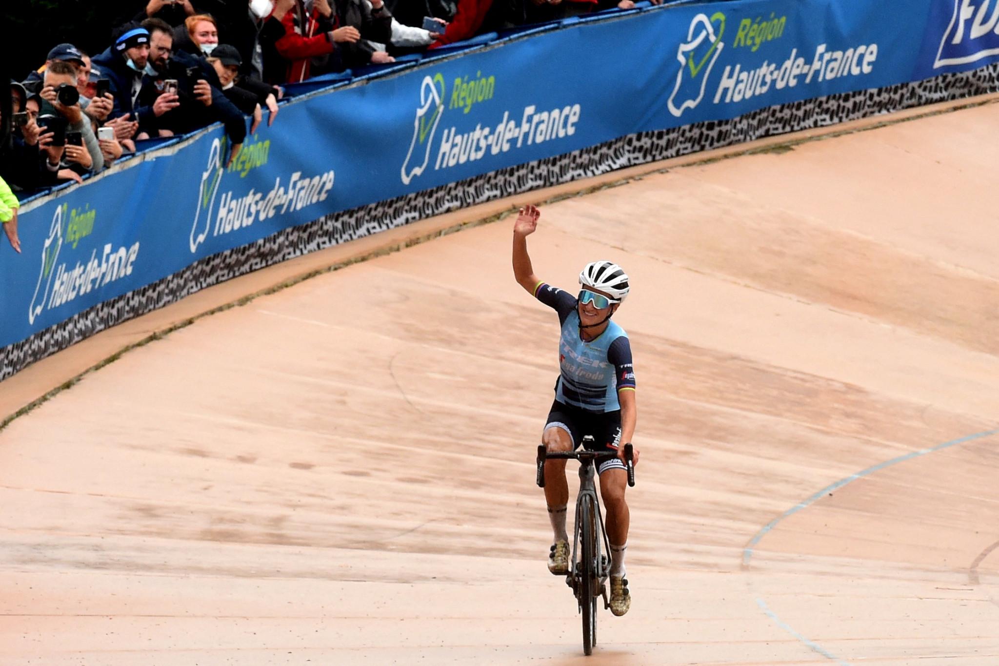 Emotional Deignan triumphs in first women's Paris-Roubaix race