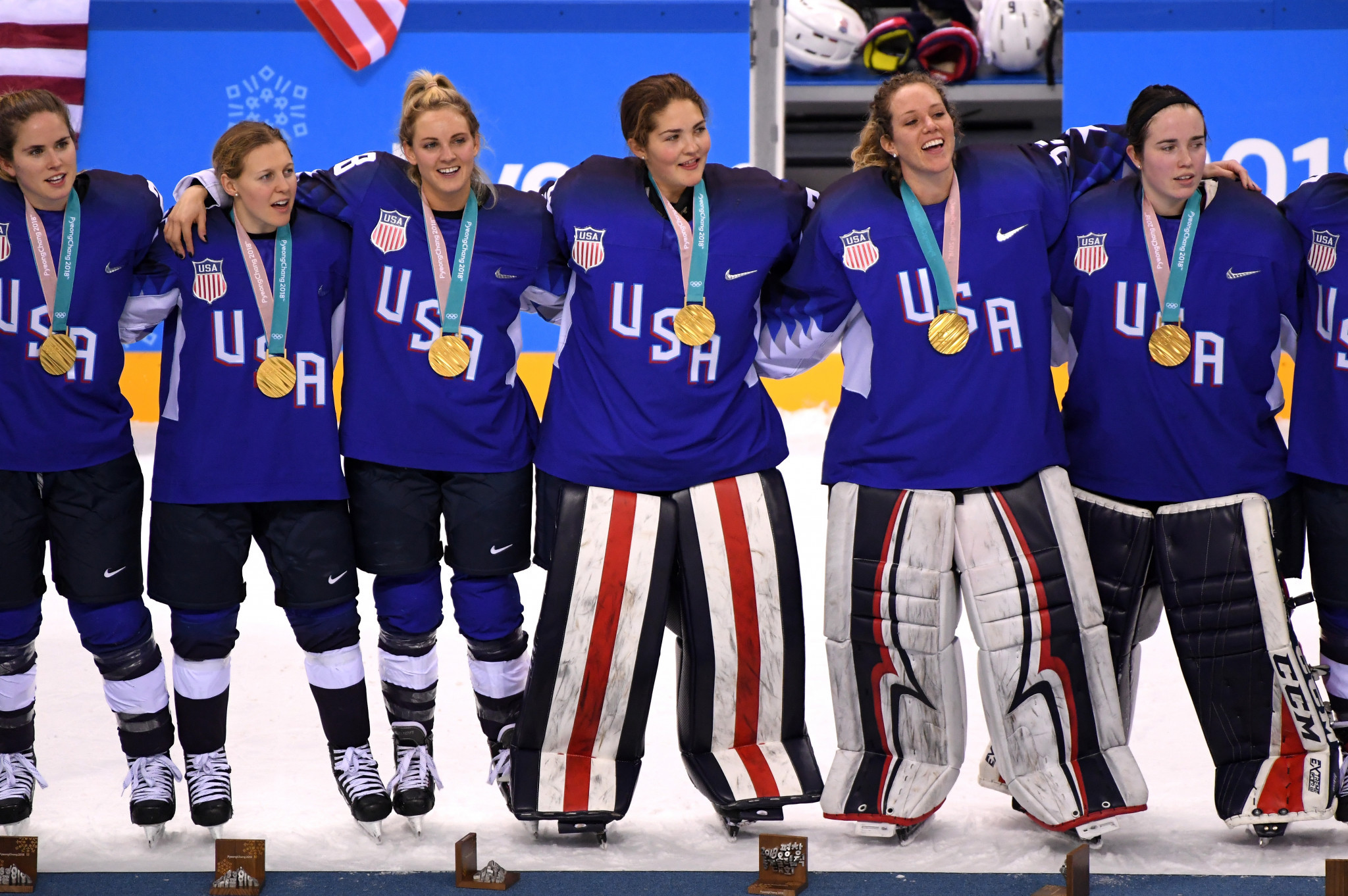 The United States won the Pyeongchang 2018 women's ice hockey gold medal ©Getty Images