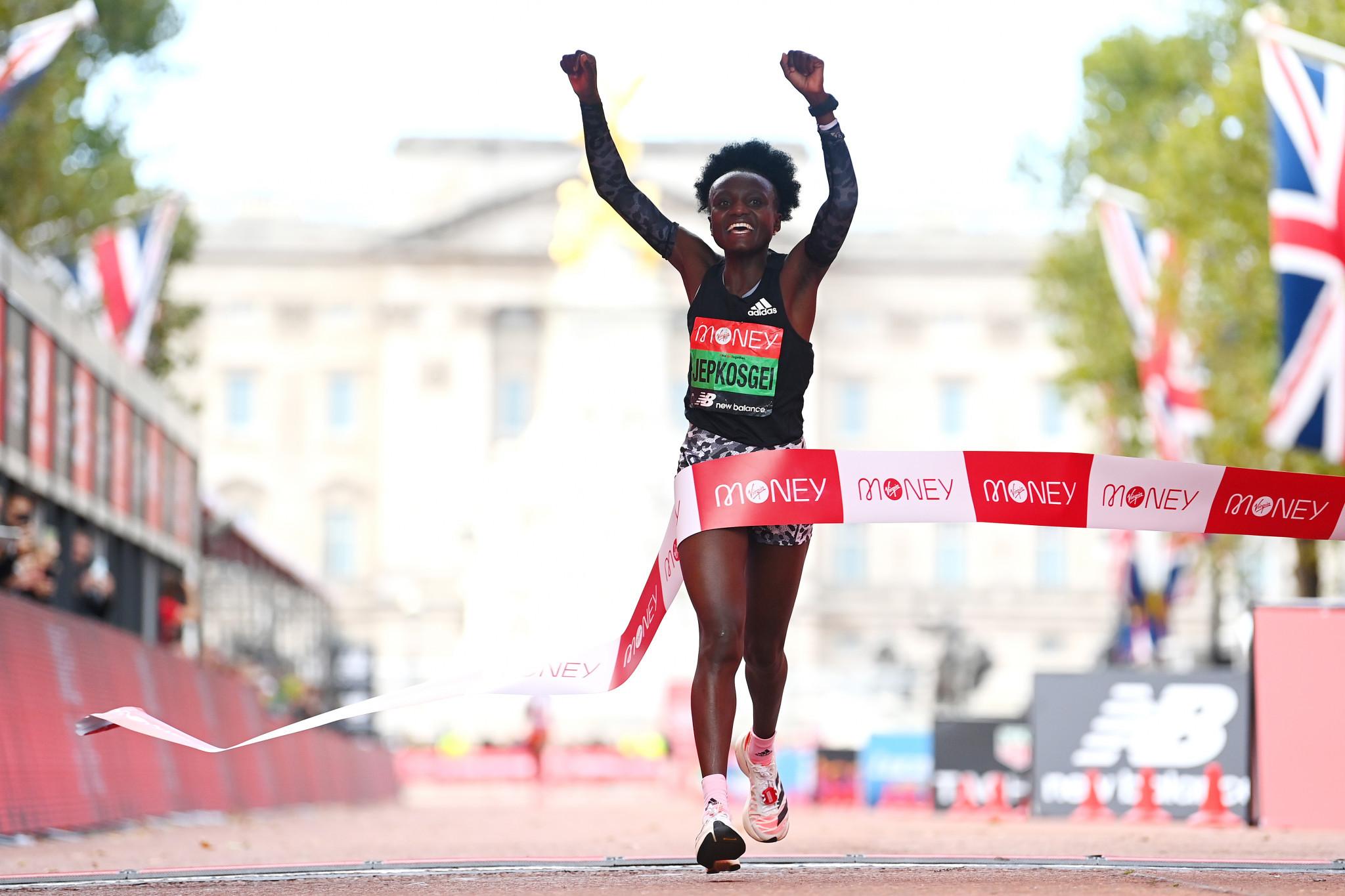 London Marathon debut win for Jepkosgei as Lemma lands biggest career win in men's race