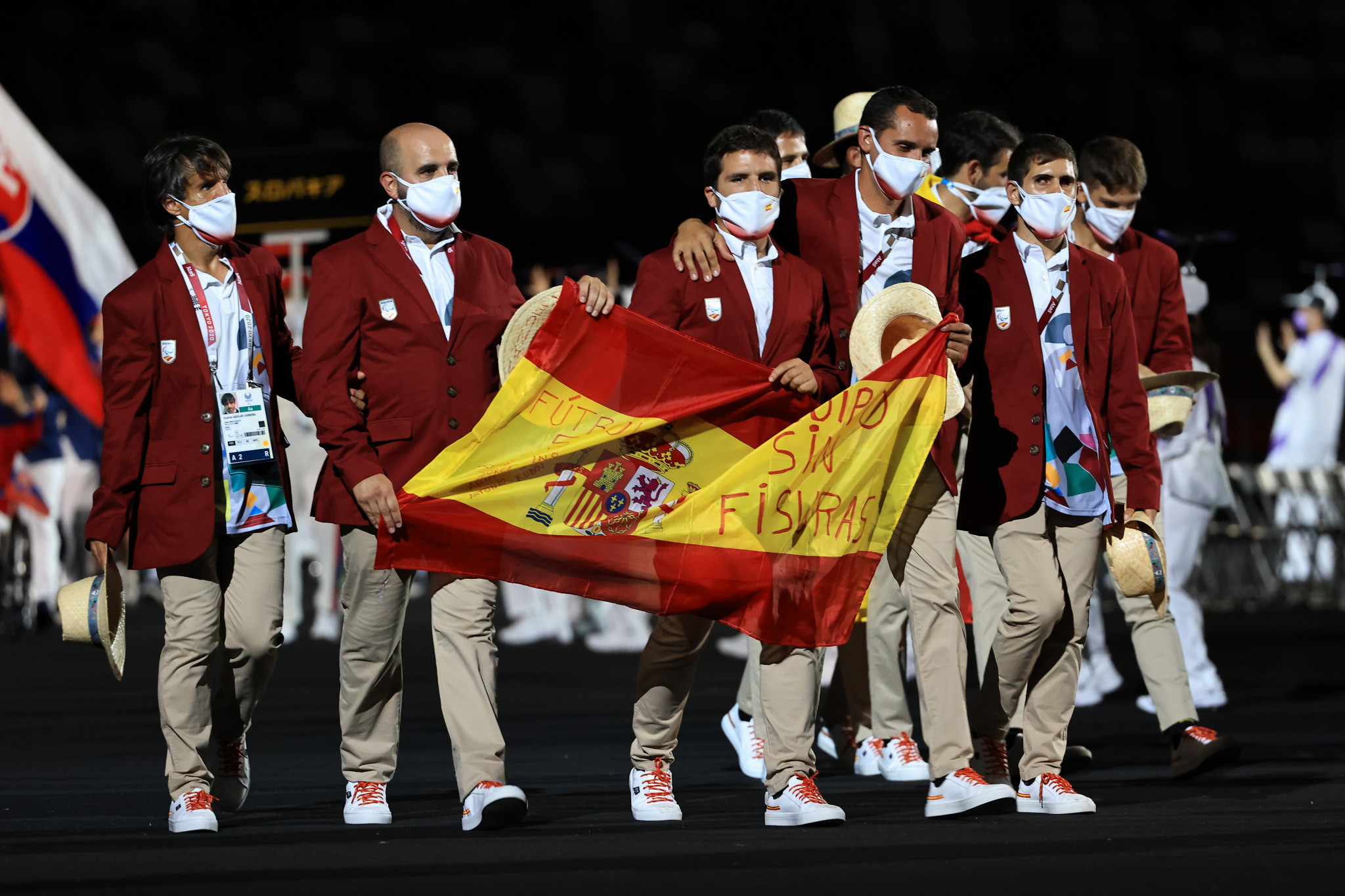 Spanish Paralympians visit charity facility for reception and thanksgiving