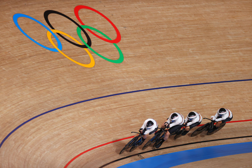 Germany's Olympic team pursuit champions will hope to add European glory to their Tokyo 2020 title ©Getty Images