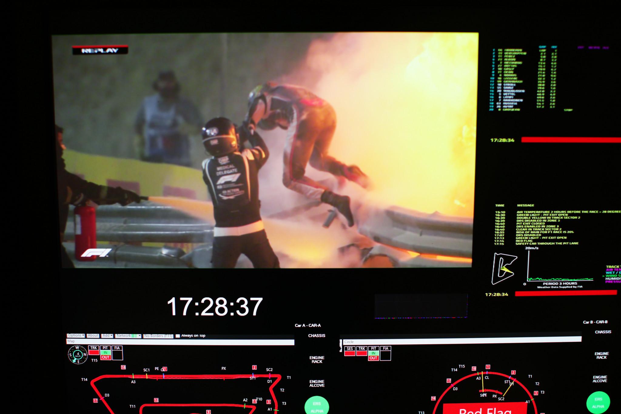 Grosjean crash footage among 2021 SPORTEL Awards winners