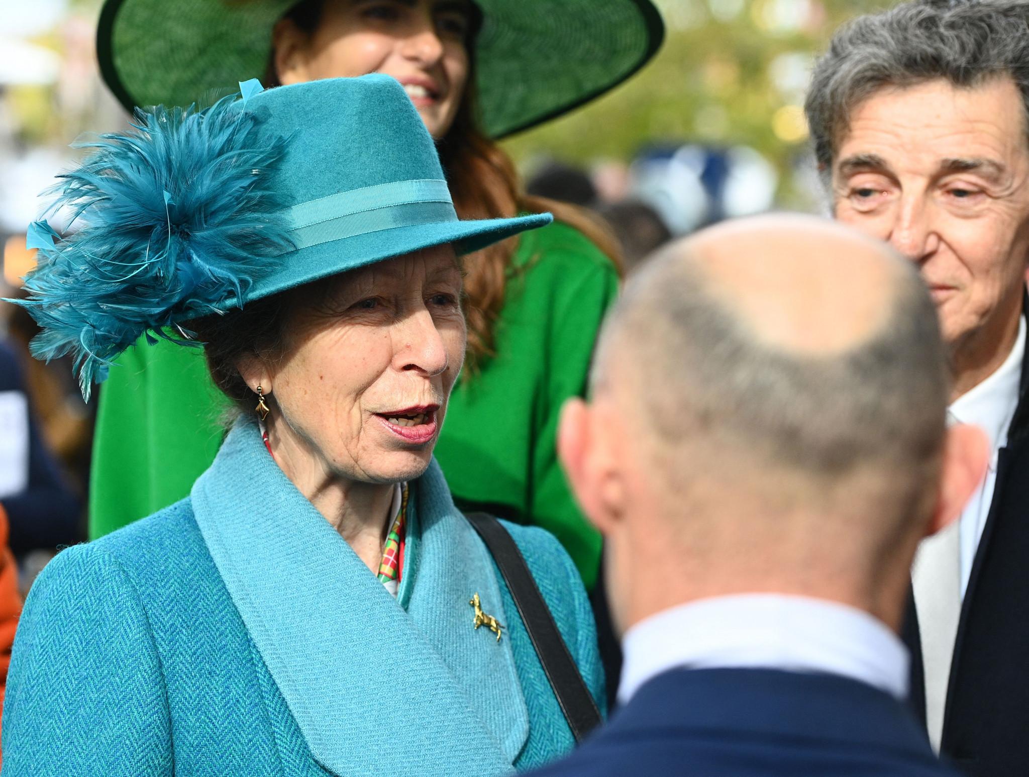 Princess Anne meets Paris 2024 representatives on visit to the city