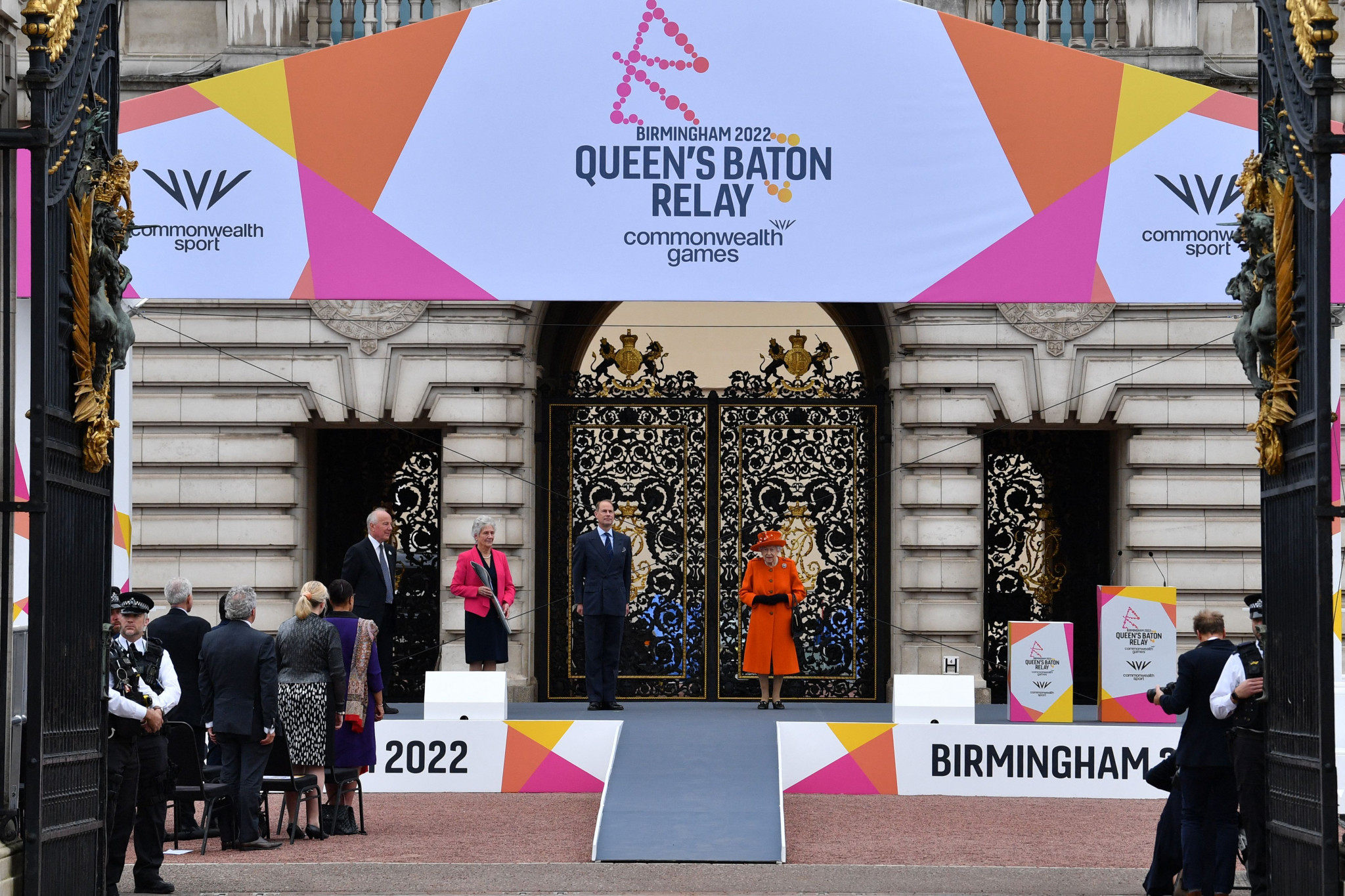 Cox first to carry Queen's Baton as Birmingham 2022 Relay launched at Buckingham Palace