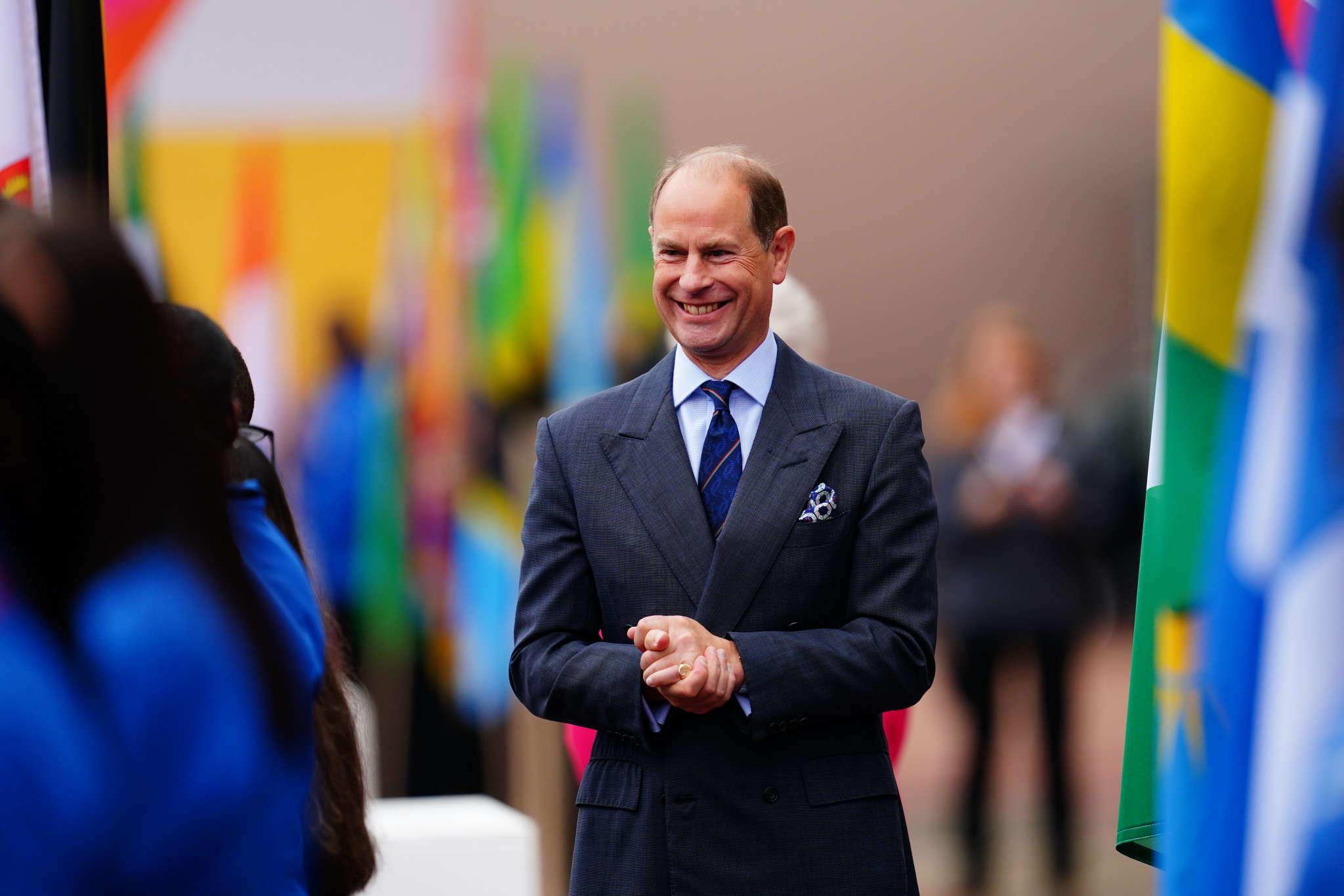Prince Edward, Earl of Wessex, celebrated the beginning of the Relay ©Getty Images