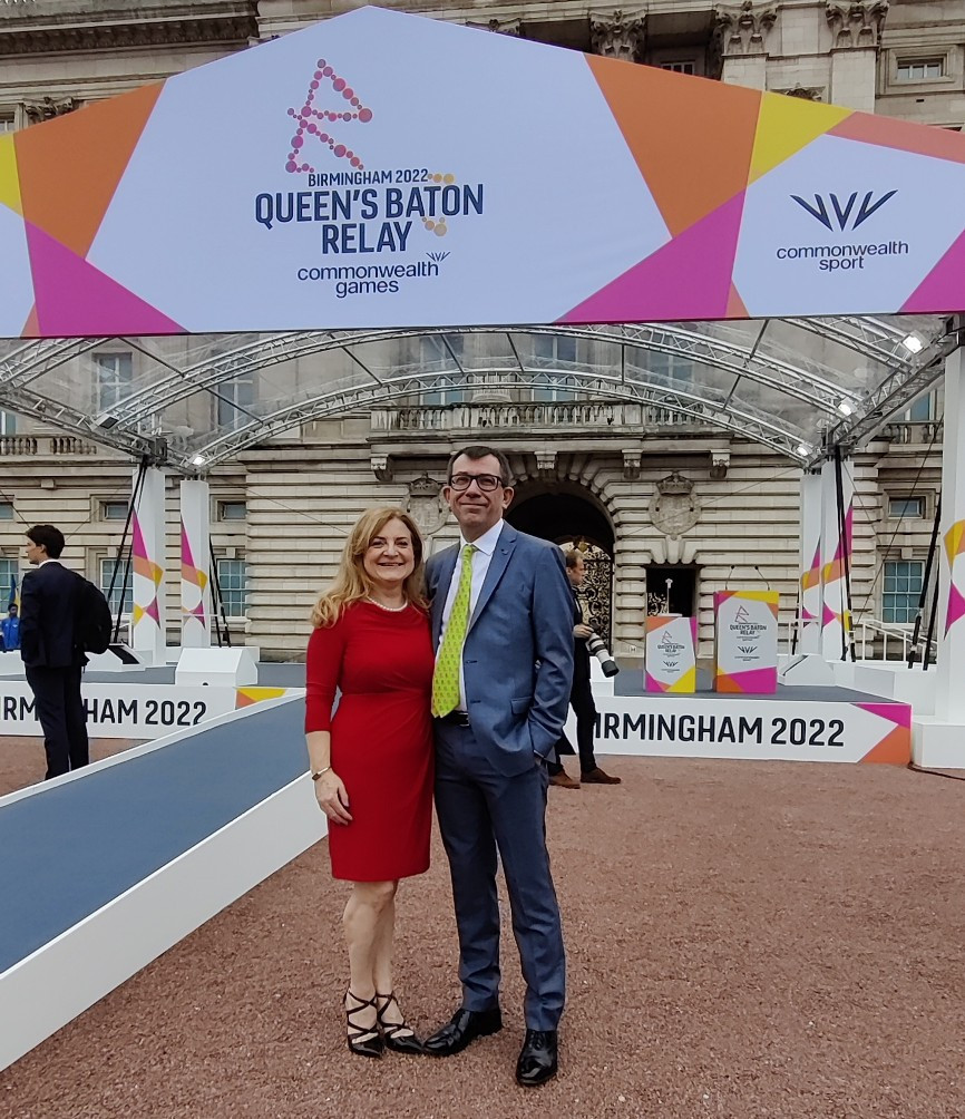 insidethegames editor-in-chief Duncan Mackay, right, and managing director Sarah Bowron were also in attendance ©ITG