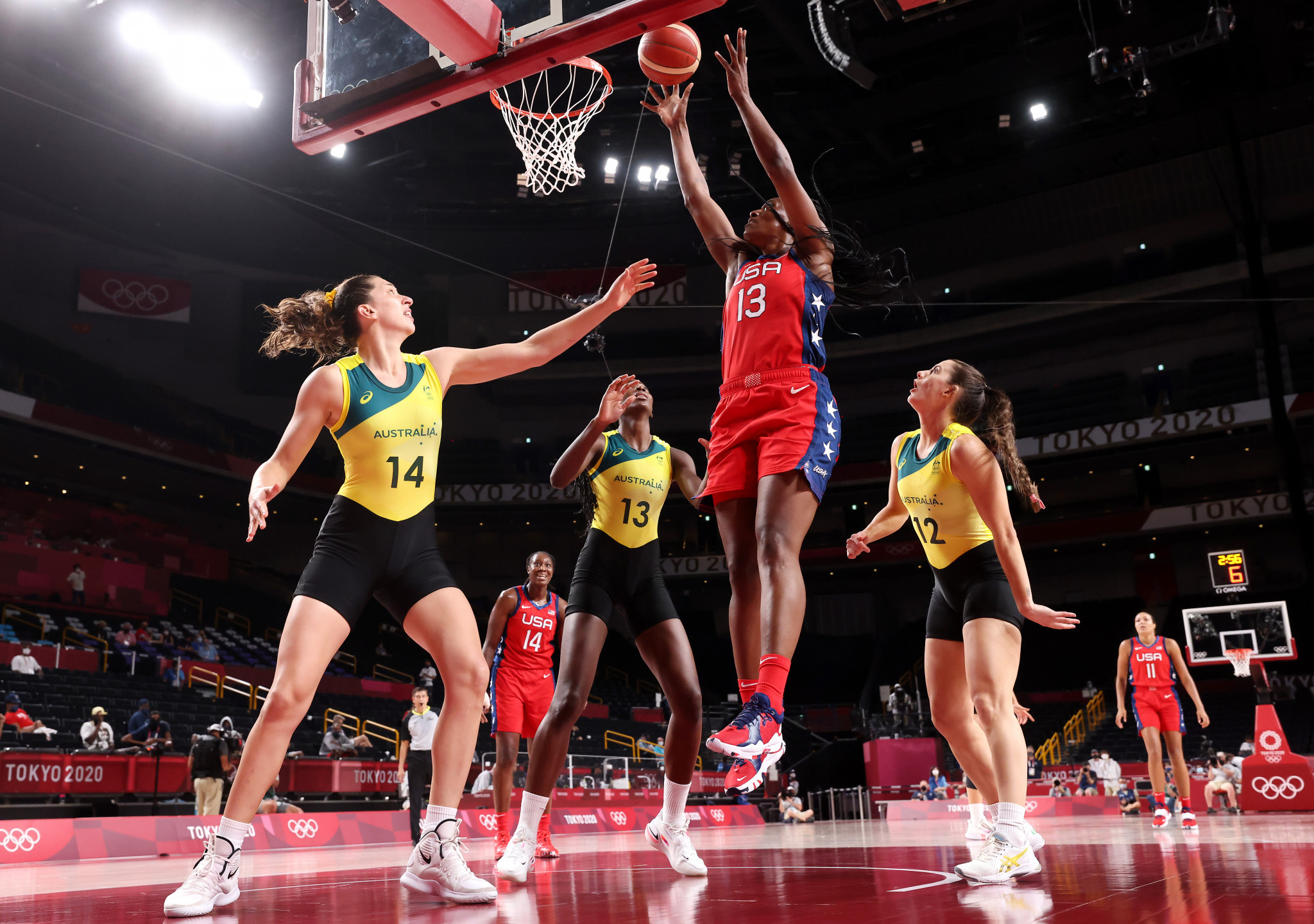 Without Liz Cambage, Australia were beaten 79-55 in the quarter-finals of the women's basketball tournament at Tokyo 2020 ©Getty Images