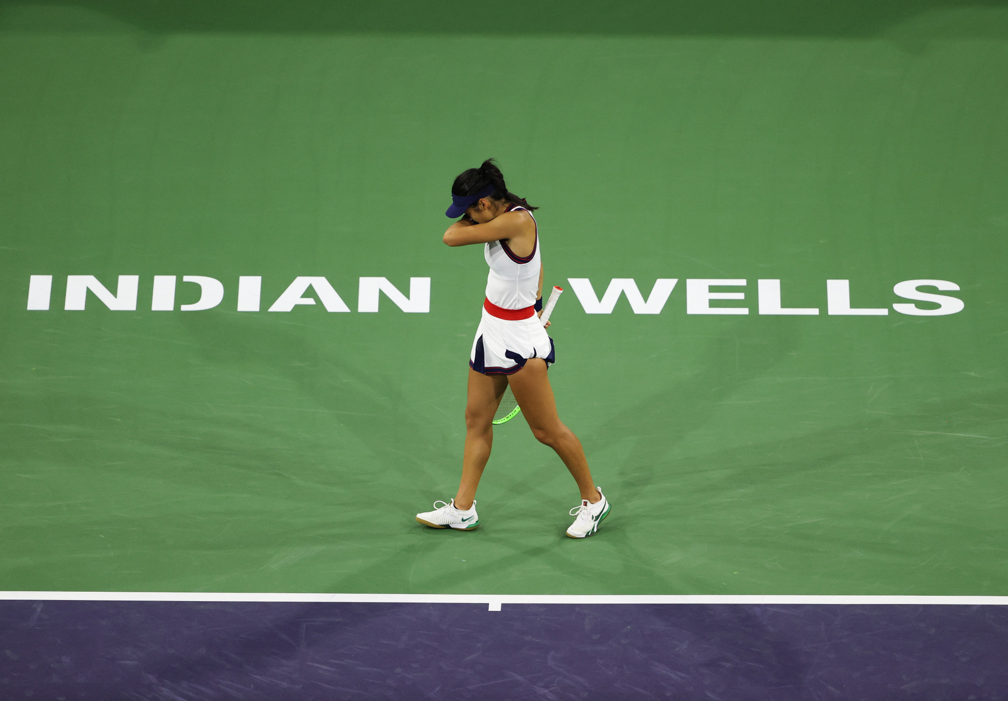 US Open champion Raducanu knocked out of Indian Wells Masters in first match since Grand Slam triumph