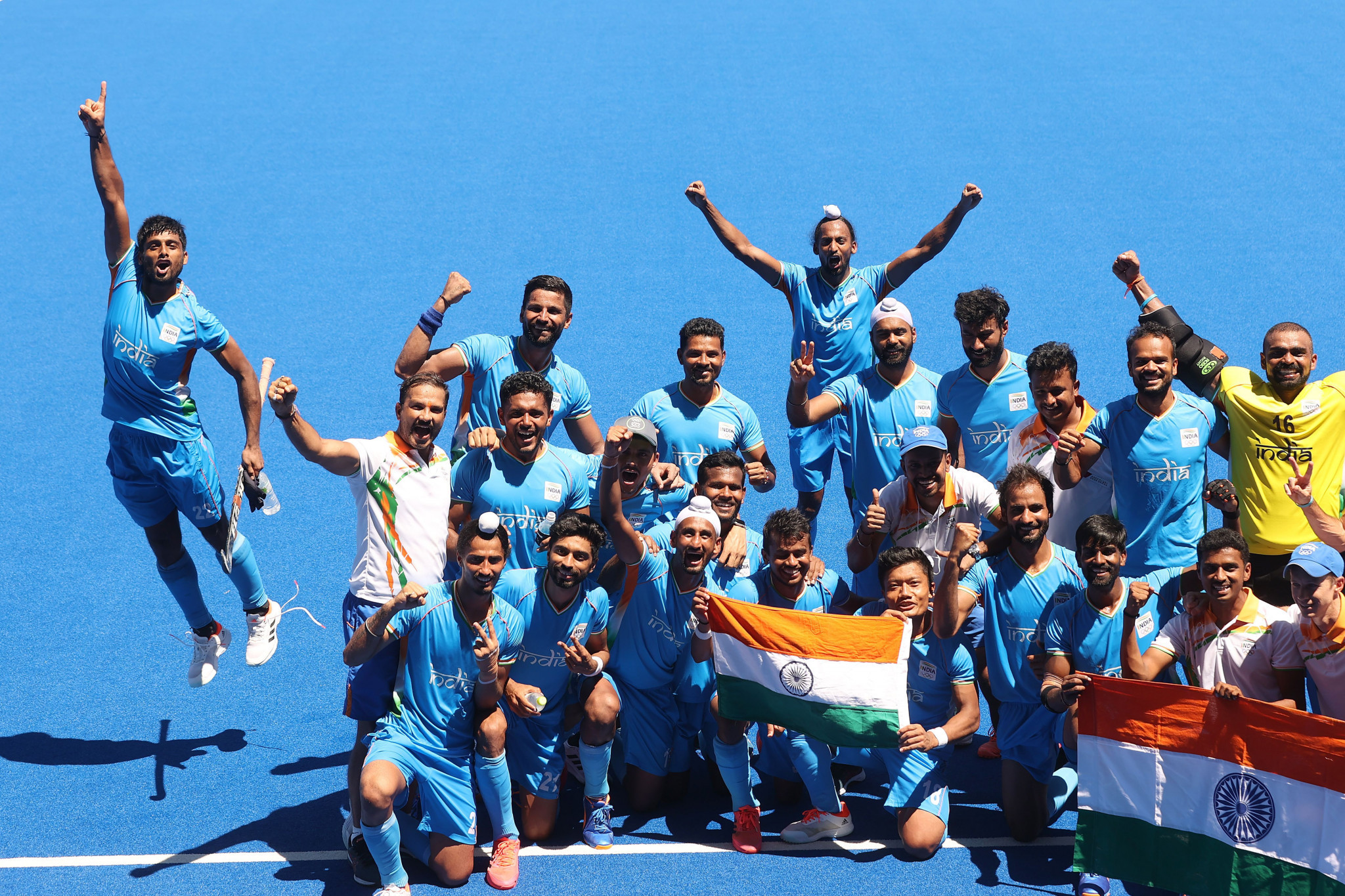 The Indian men's hockey team is ranked third in the world after winning the bronze at Tokyo 2020 - their first Olympic medal for 41 years ©Getty Images
