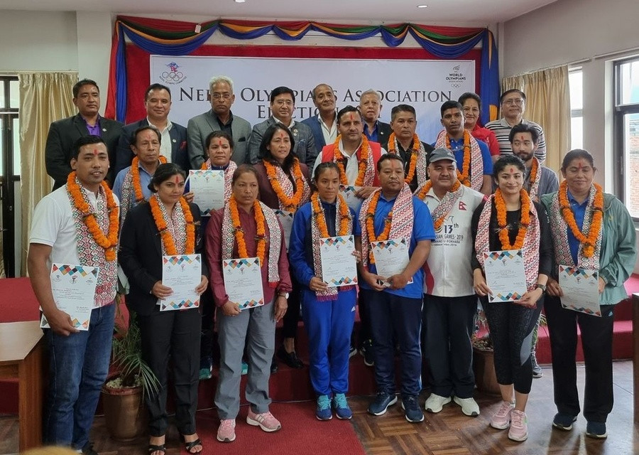 Taekwondo star Bista elected Nepal Olympians Association President as organisation revived after four years