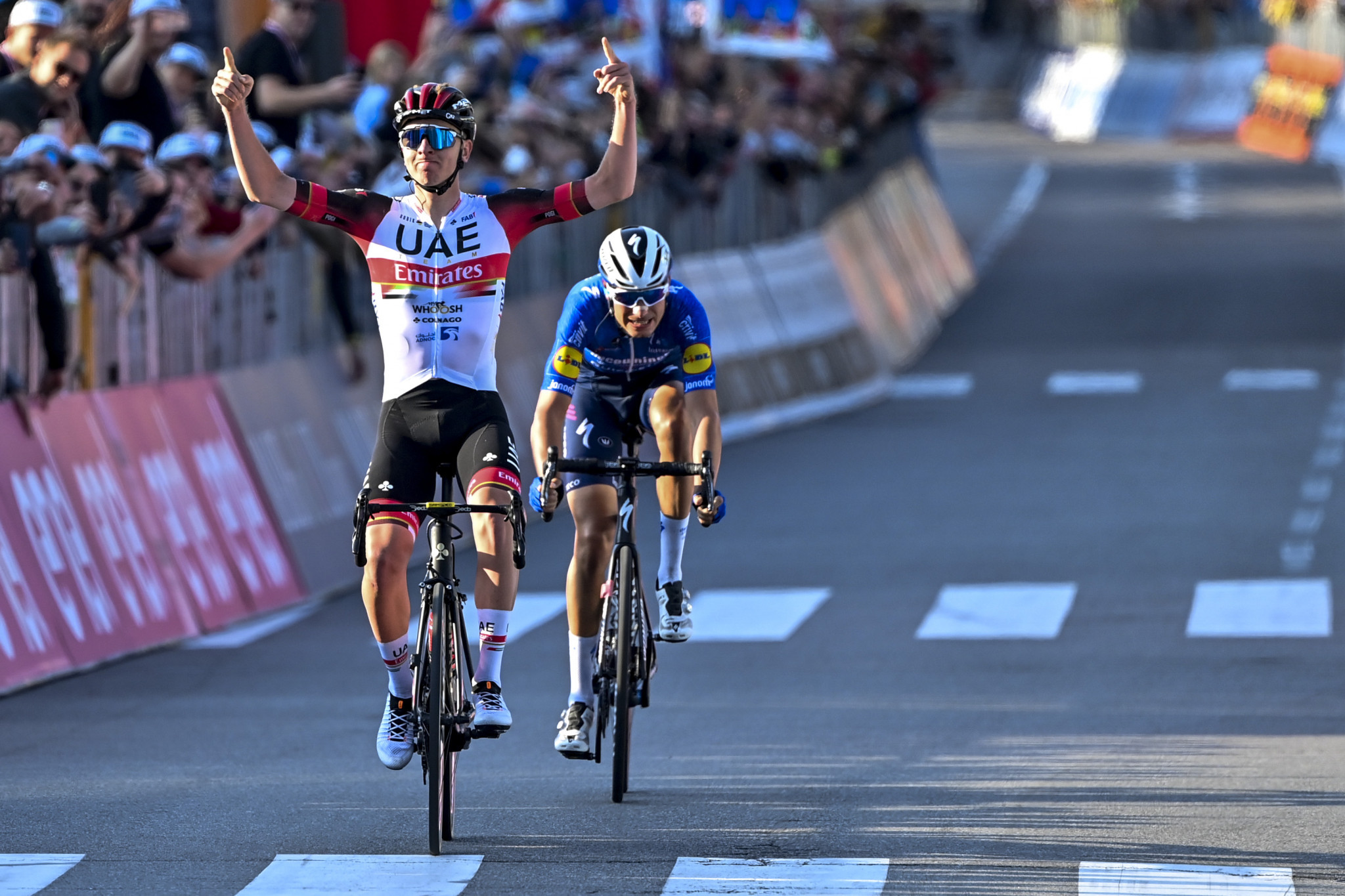 Pogačar outsprints Masnada to claim Il Lombardia victory and second Monument triumph of career