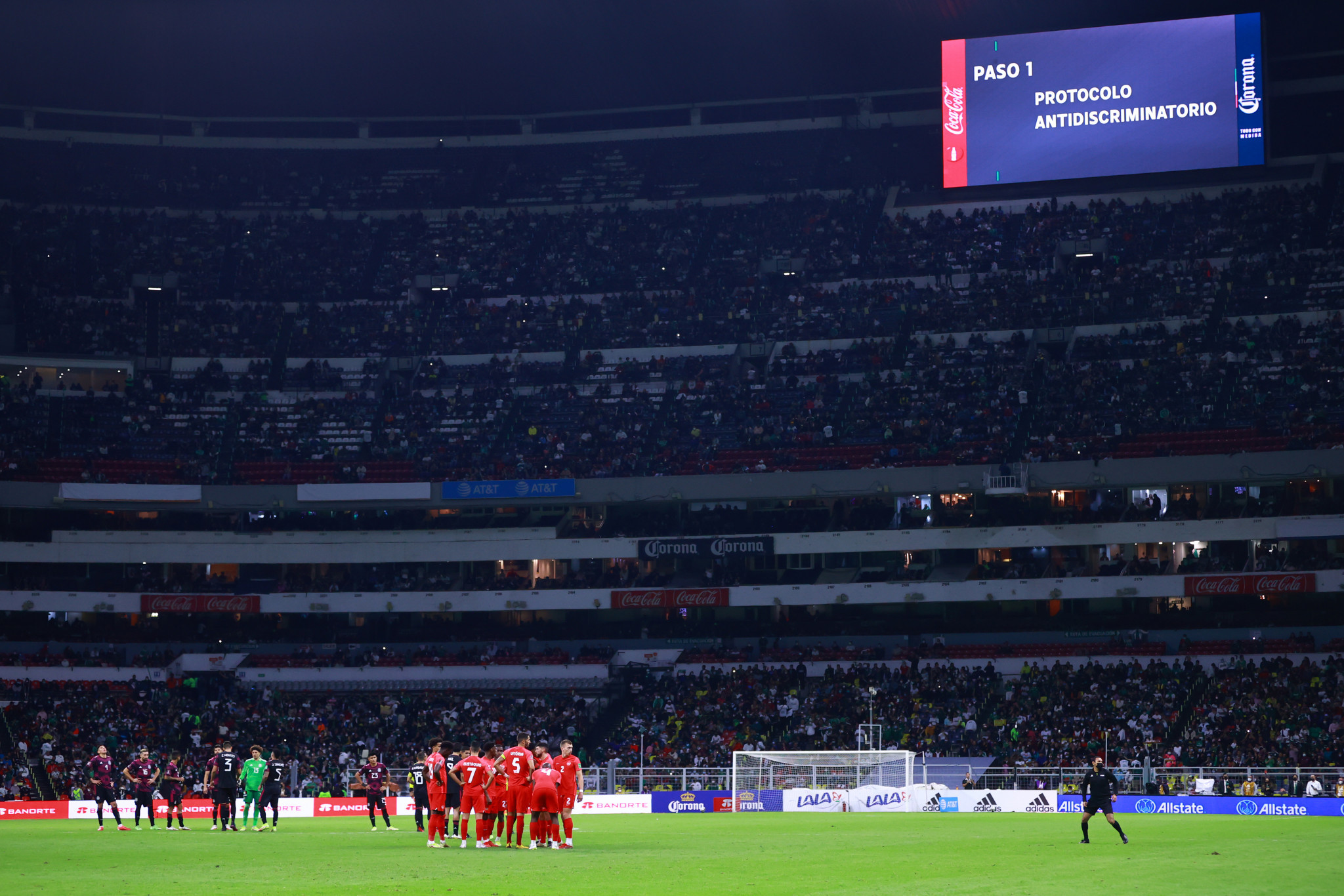 Mexico's FIFA World Cup qualifier against Canada at Azteca Stadium paused amid reports of further homophobic chants