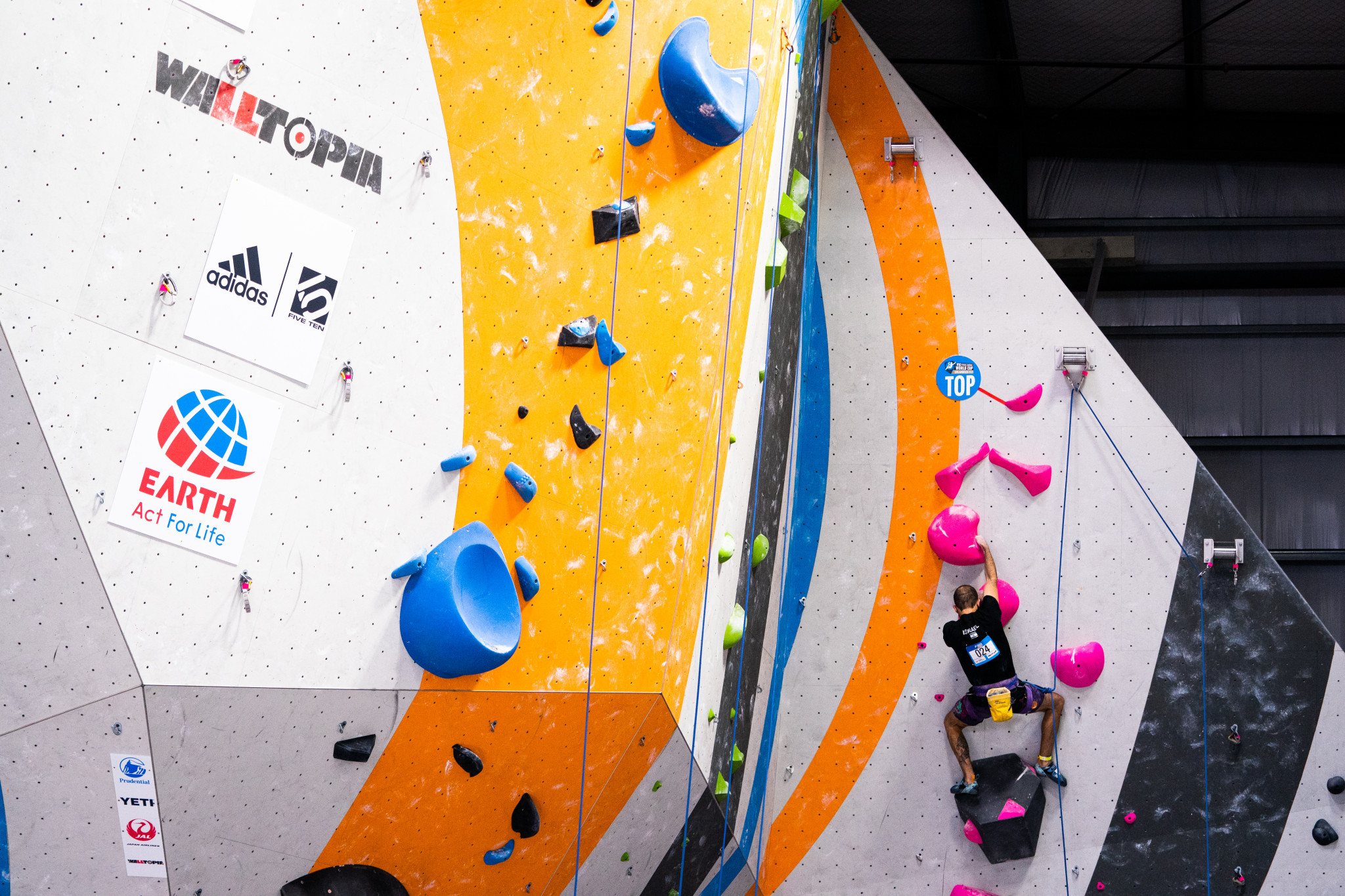 Mor Michael Sapir was also among those to progress in qualifying as he topped both routes in the men's RP2 ©Daniel Gajda/IFSC