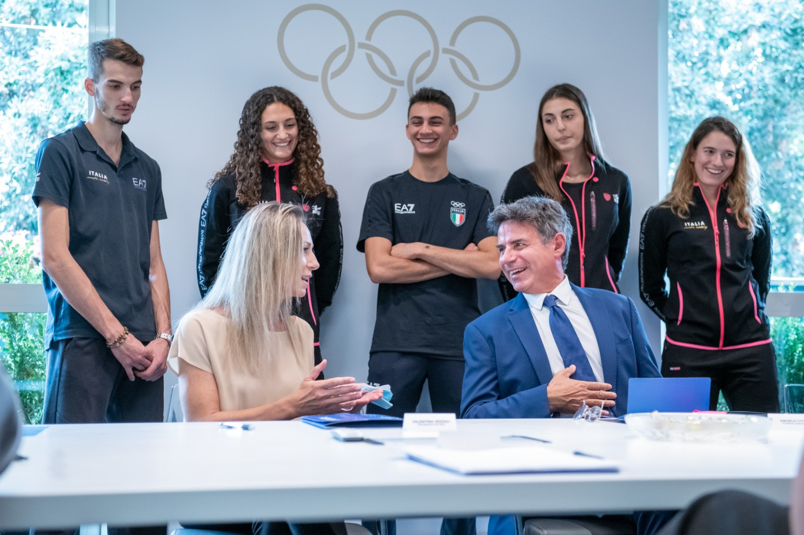 Undersecretary for sport and six-time Olympic champion Vezzali meets FITA Federal Council, Tokyo 2020 champion Dell'Aquila