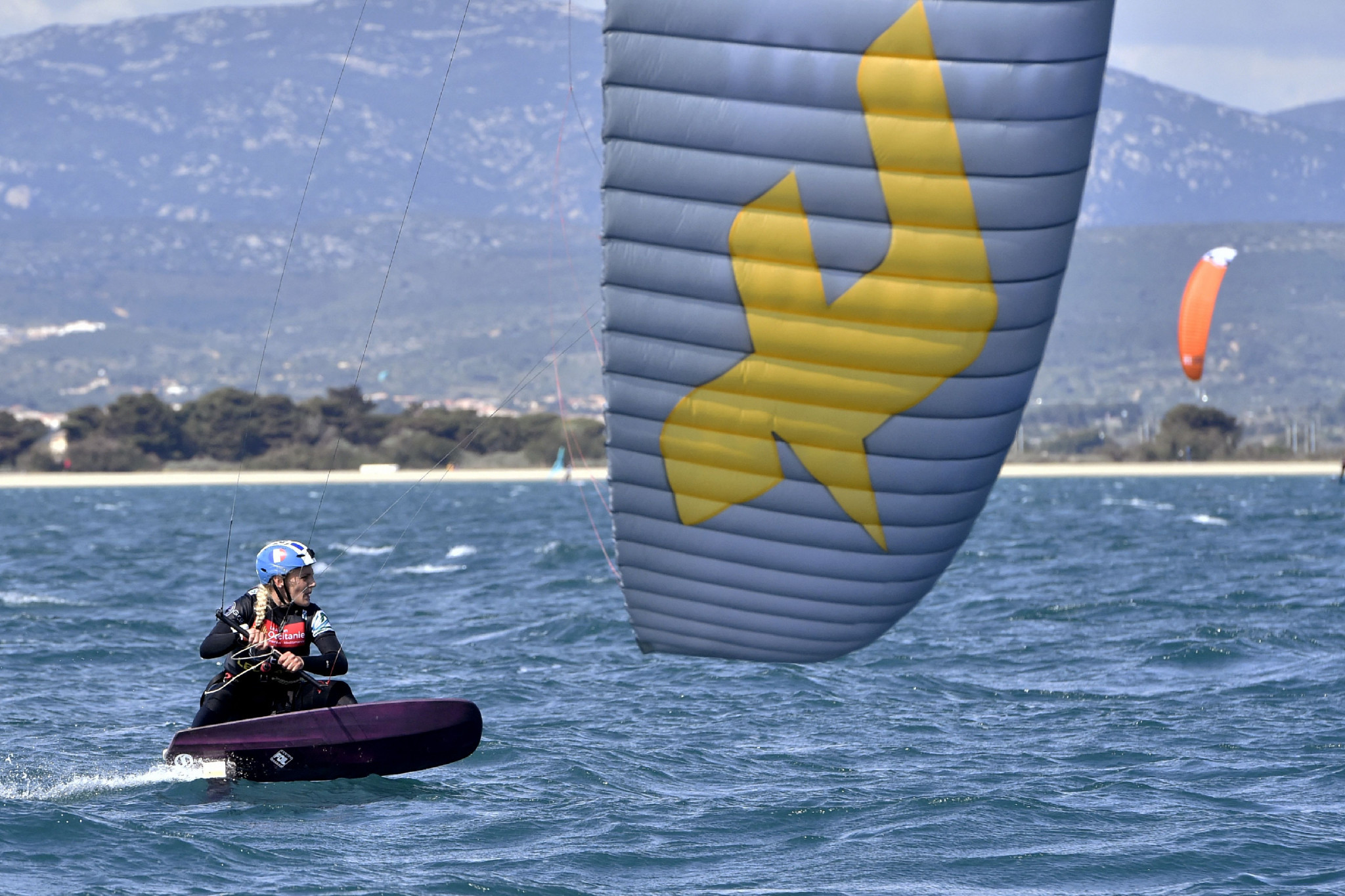 France locks out KiteFoil World Series women's podium on third leg in Cagliari