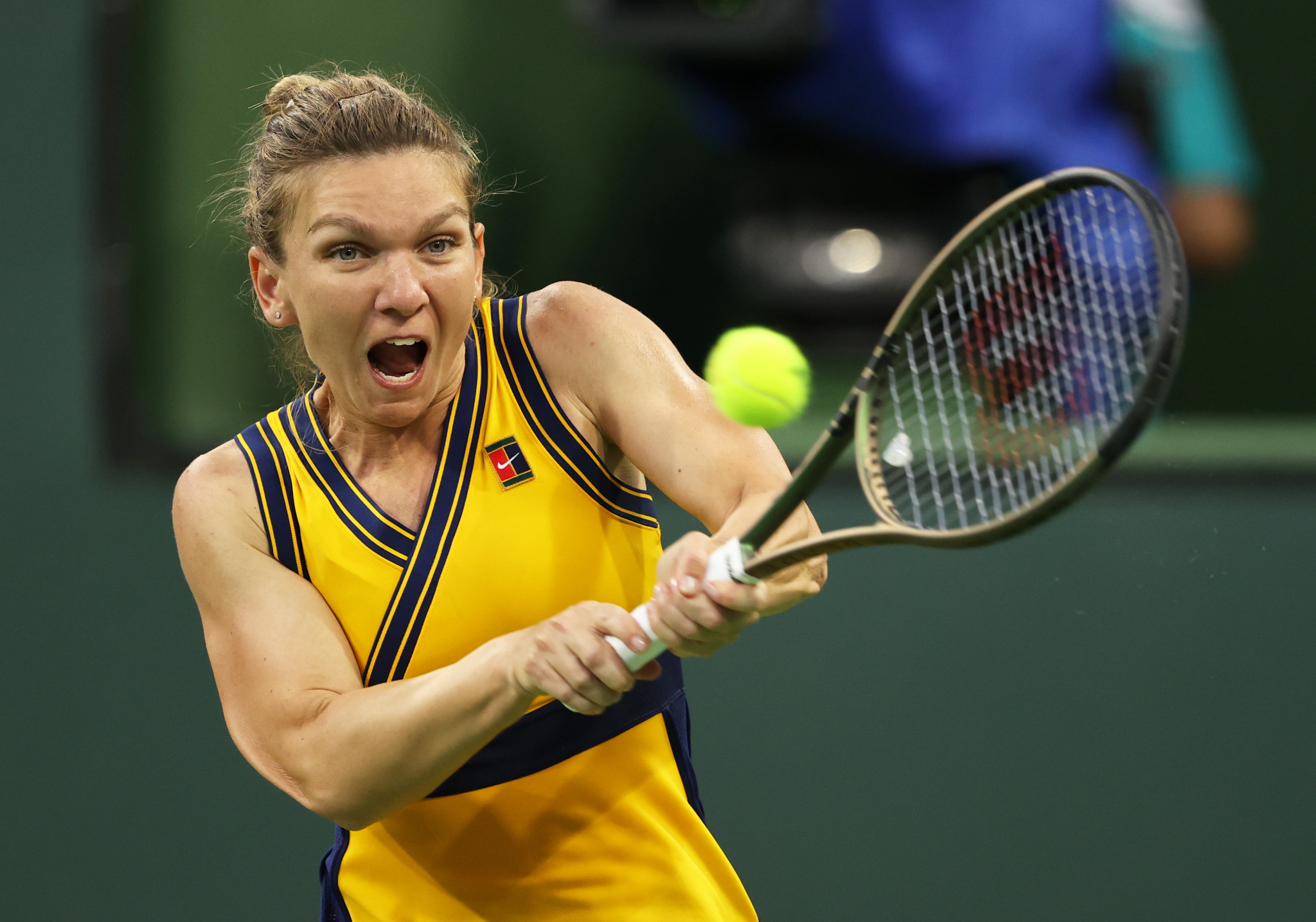 Simona Halep was knocked out of the Indian Wells Masters by Aliaksandra Sasnovich ©Getty Images