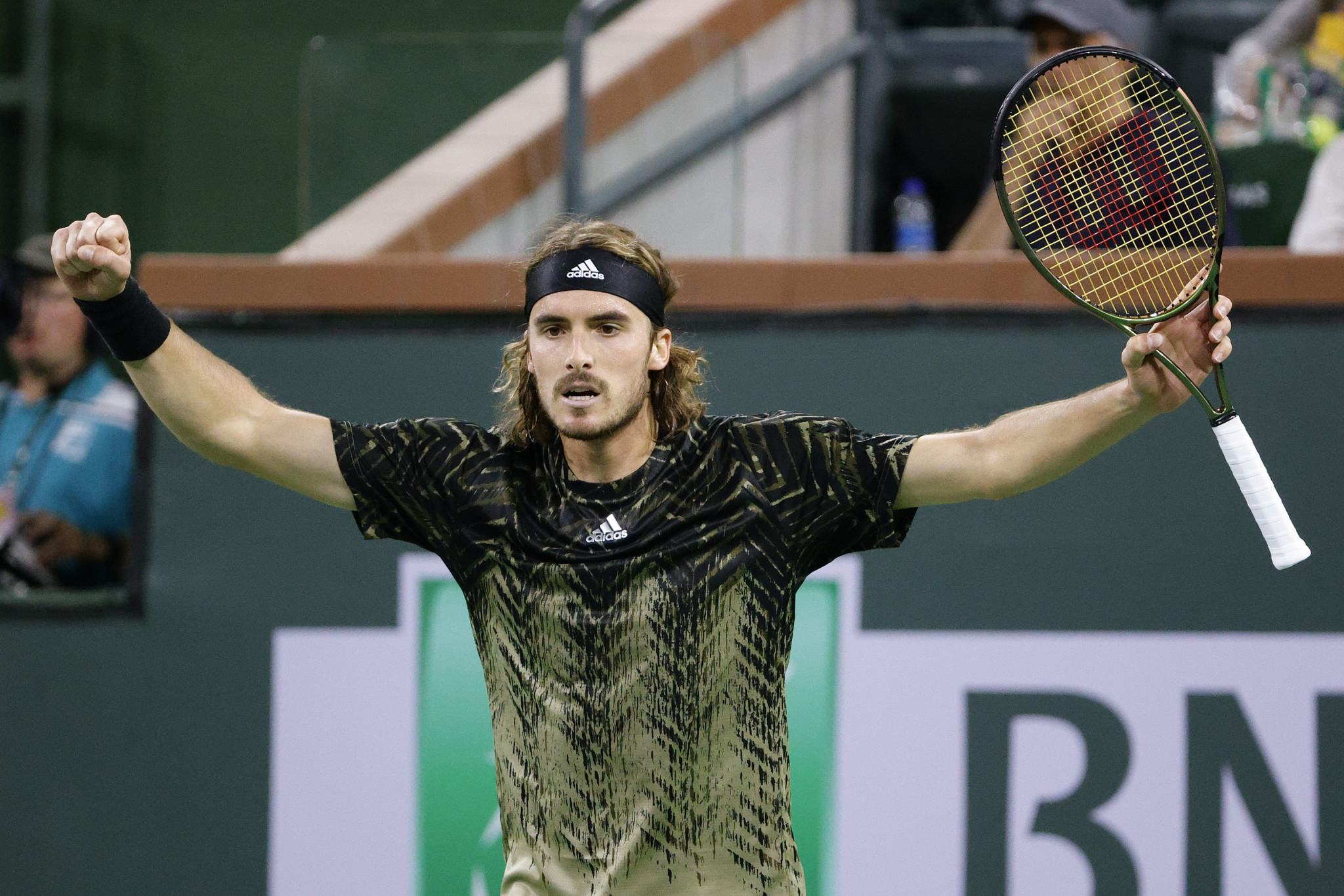 Stefanos Tsitsipas beat Spain's Pedro Martínez in straight sets ©Getty Images