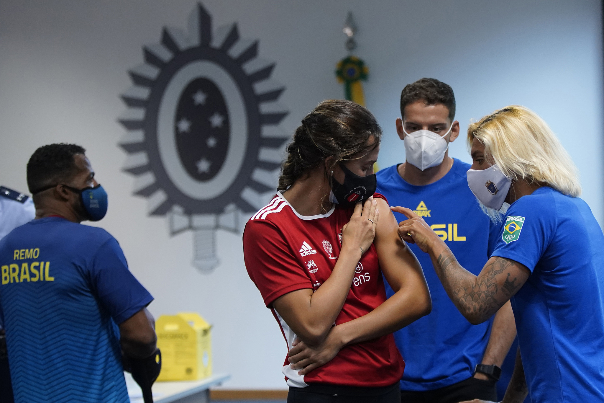 Foreign athletes were offered the opportunity of receiving COVID-19 vaccines before this year's Olympic Games in Tokyo under a programme run by the IOC in association with Pfizer ©Getty Images
