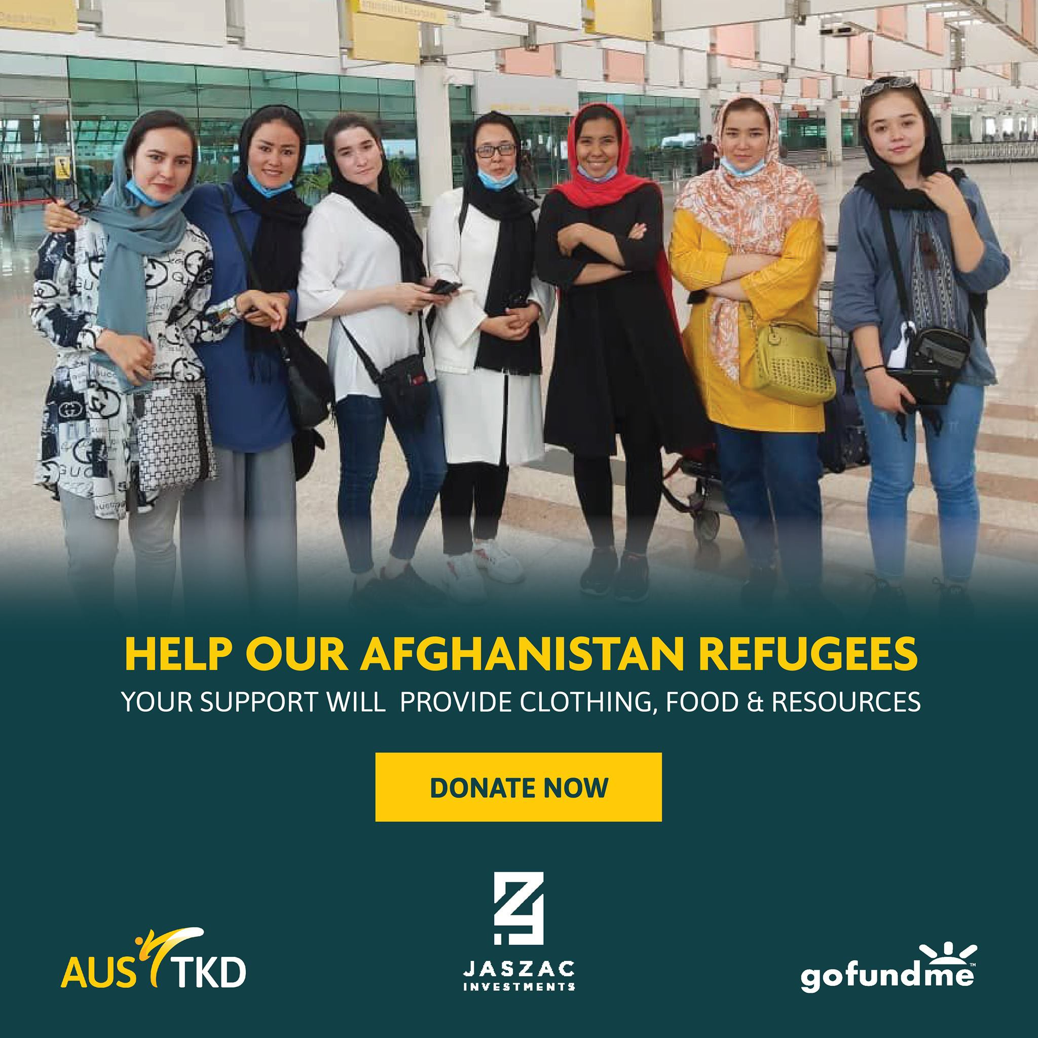 Fundraising campaign underway for Afghan taekwondo players given refuge in Australia