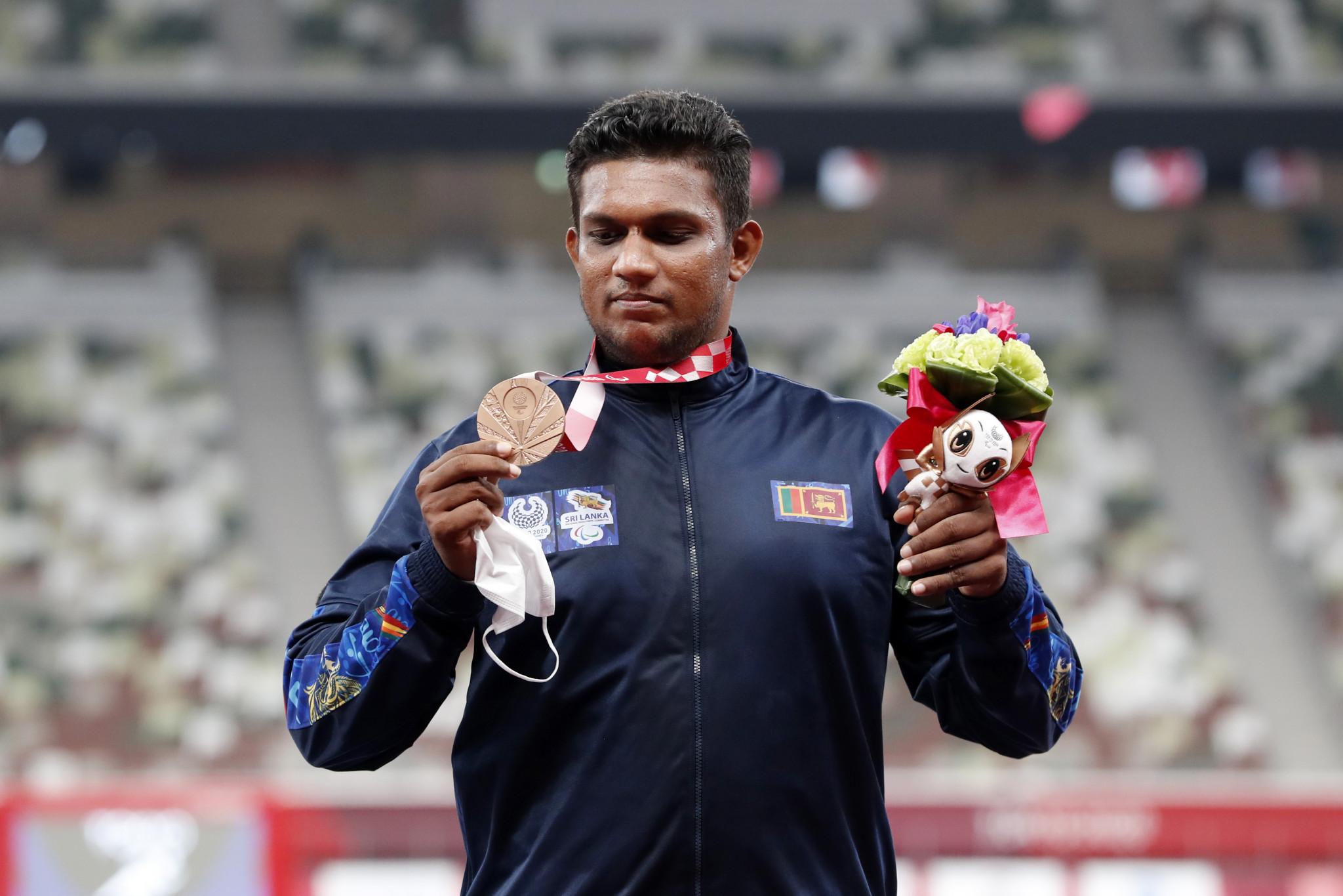 Dulan Kodithuwakku won Sri Lanka's third Paralympic bronze medal ©Getty Images