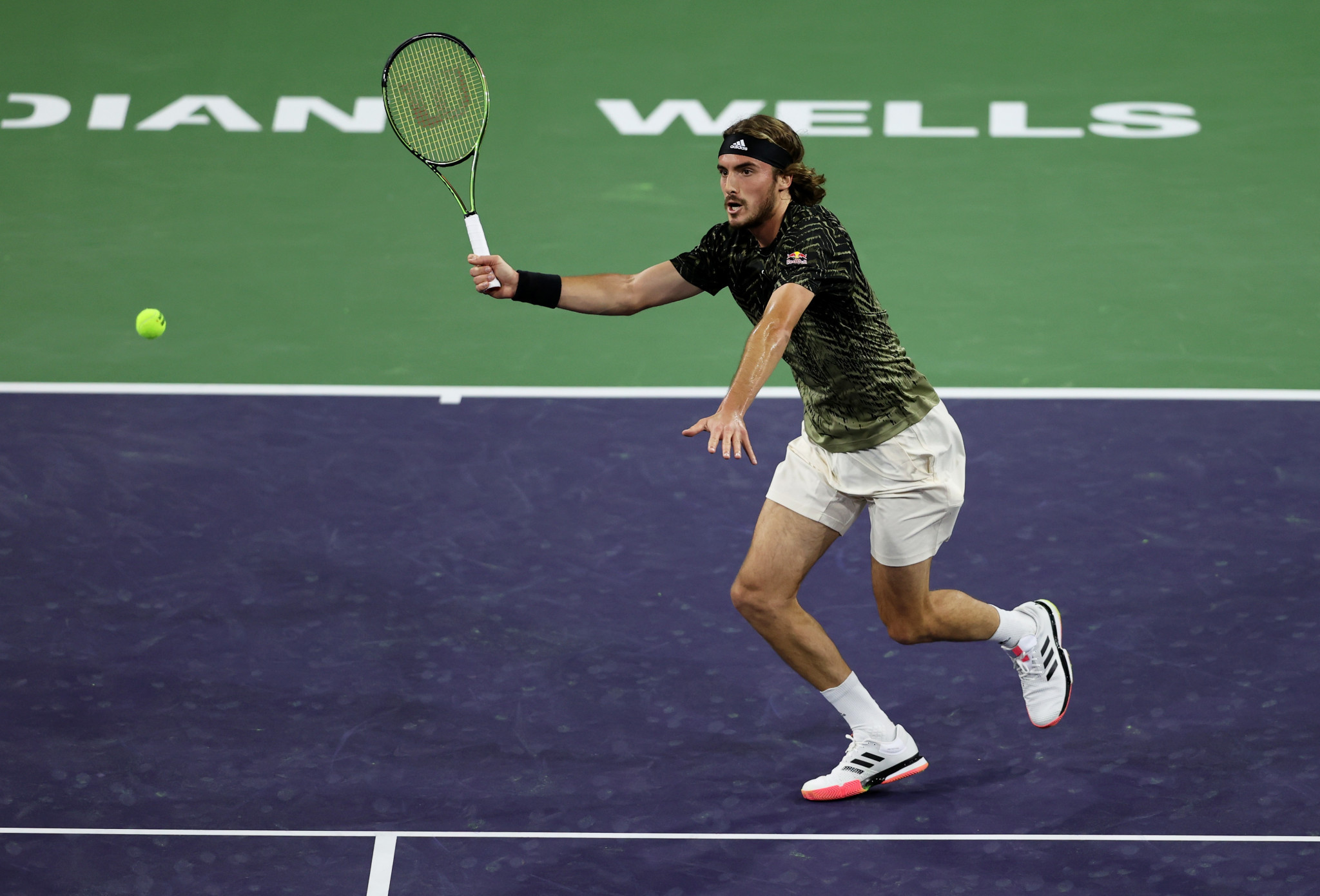 Stefanos Tsitsipas came from behind to book  his place into fourth round in California ©Getty Images