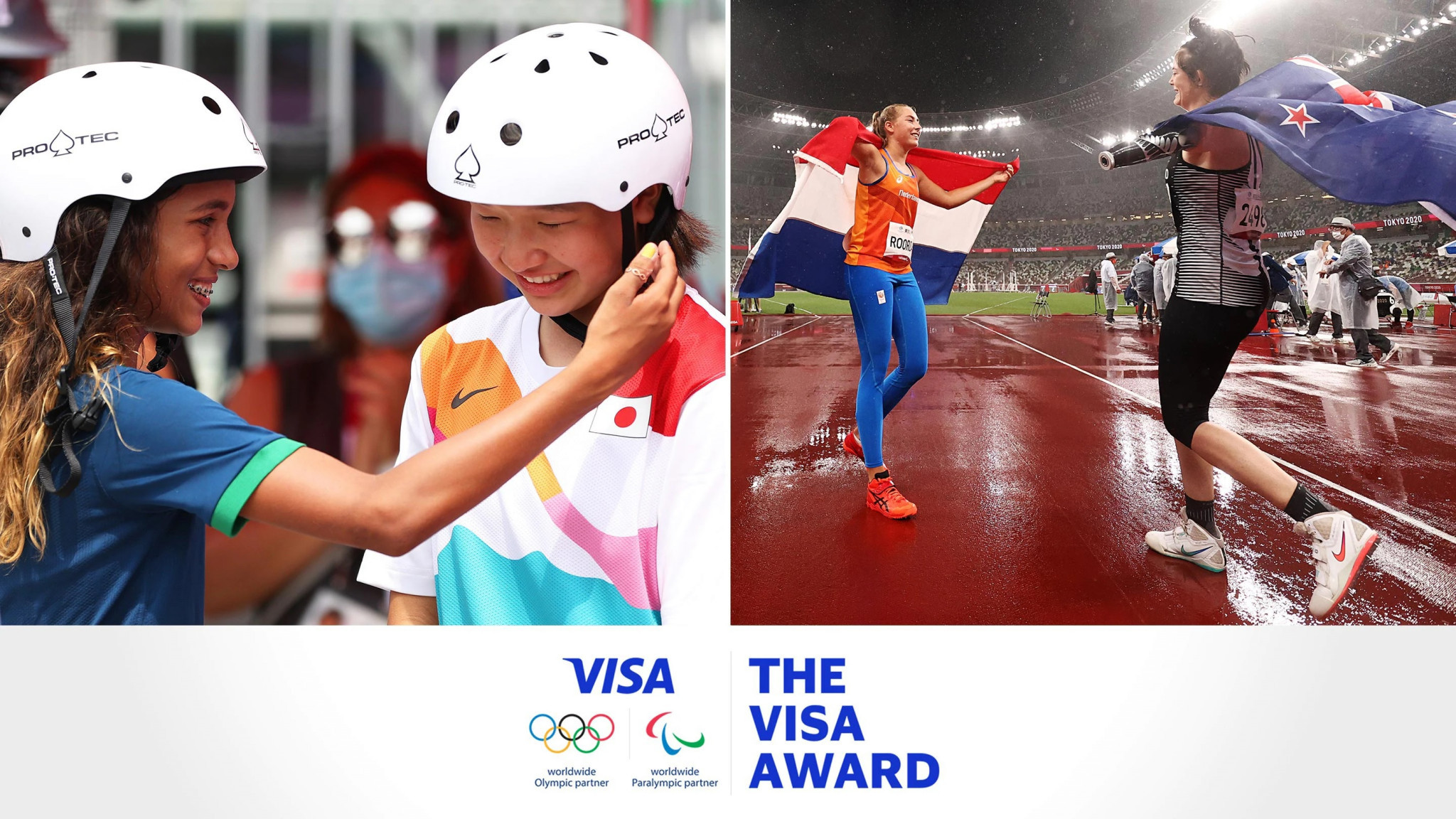 Visa Award winners Leal and Robinson choose charities to receive funding boost