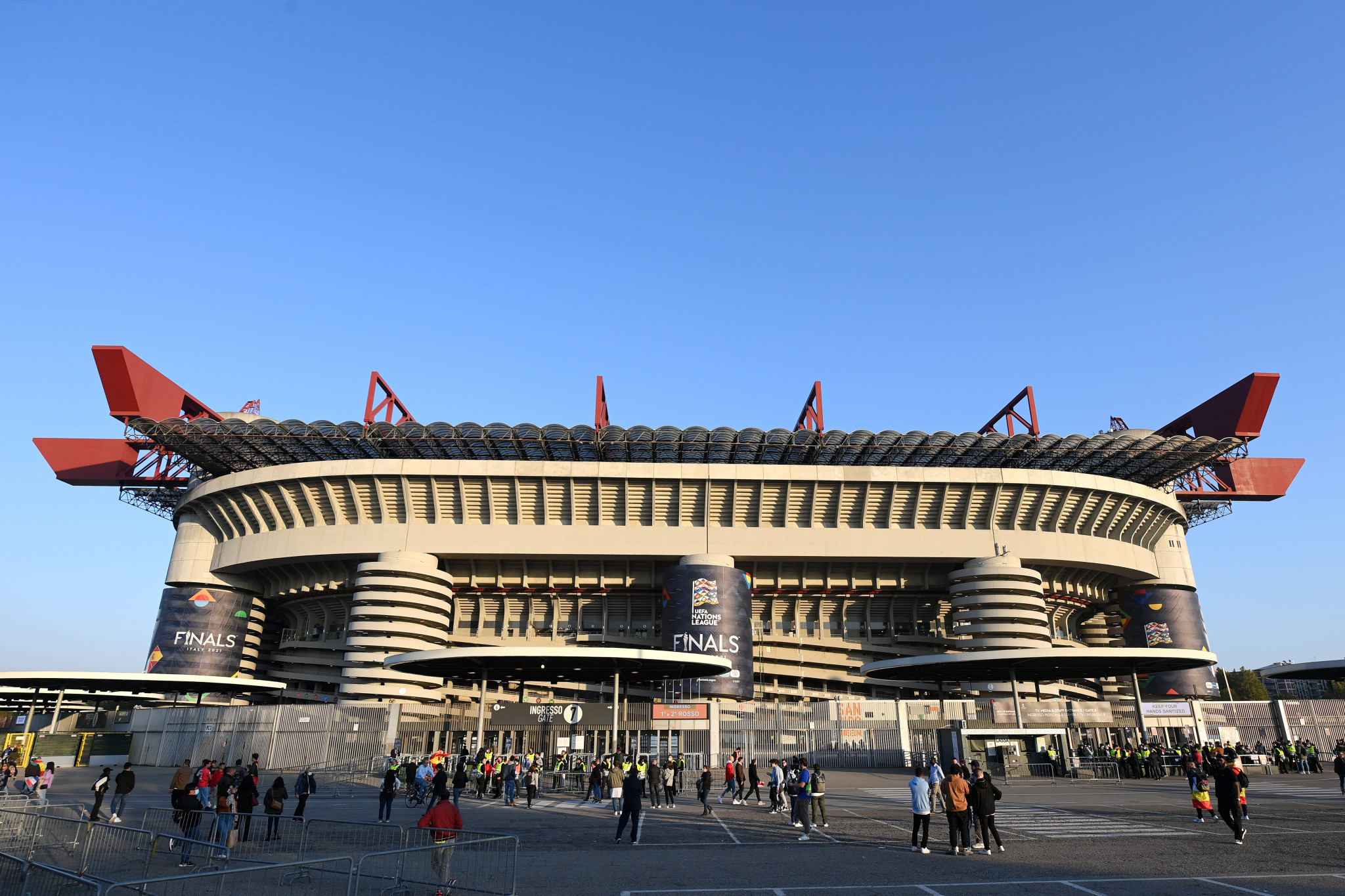 AC Milan and Inter Milan are looking to gain about €120 million from the new San Siro ©Getty Images