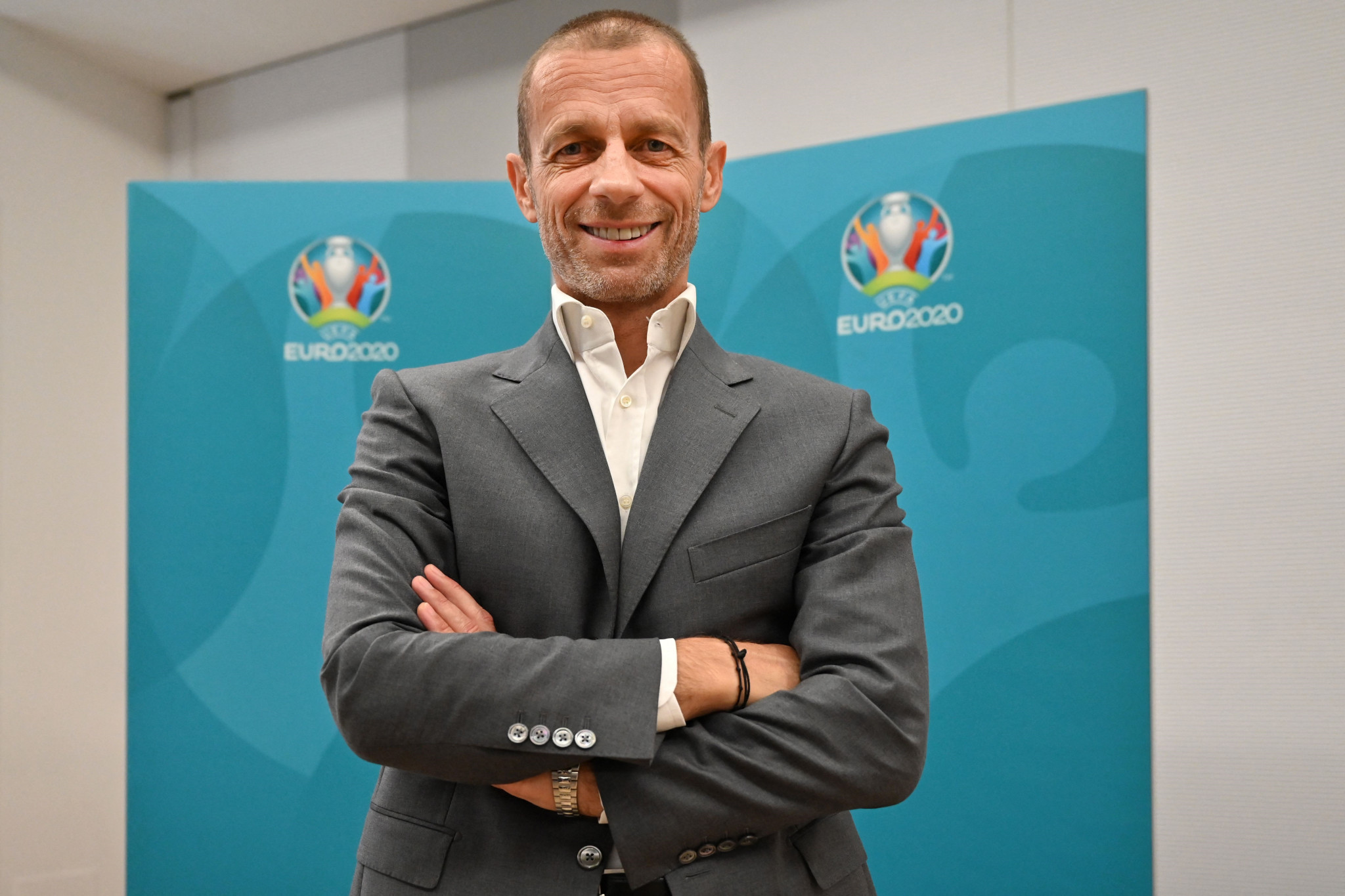 UEFA President Aleksander Čeferin is opposed to the FIFA World Cup being held every two years ©Getty Images