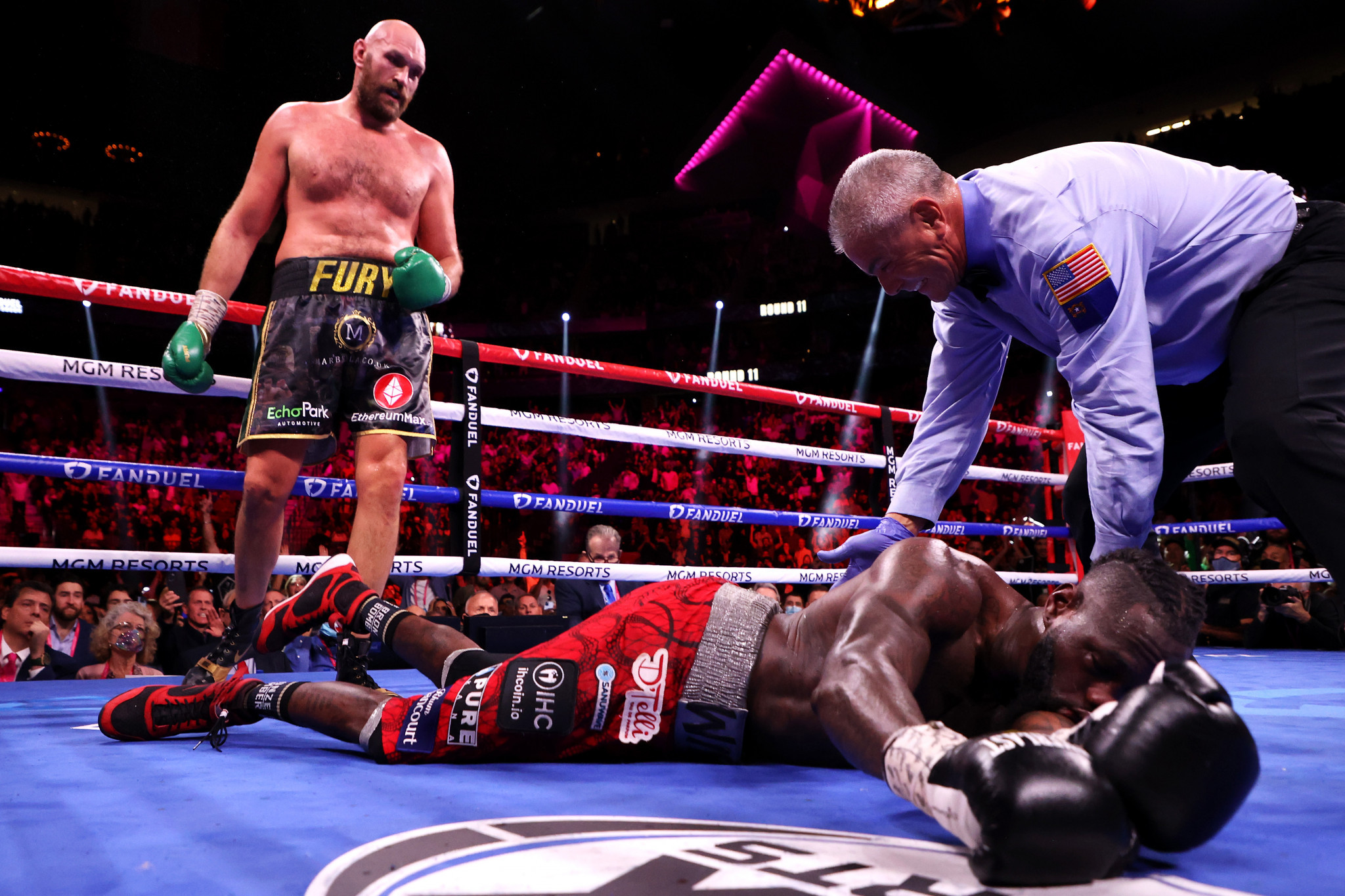 Tyson Fury, left, underlined his status as the dominant force in heavyweight boxing by beating Deontay Wilder for the second time officially - and third in the eyes of many ©Getty Images