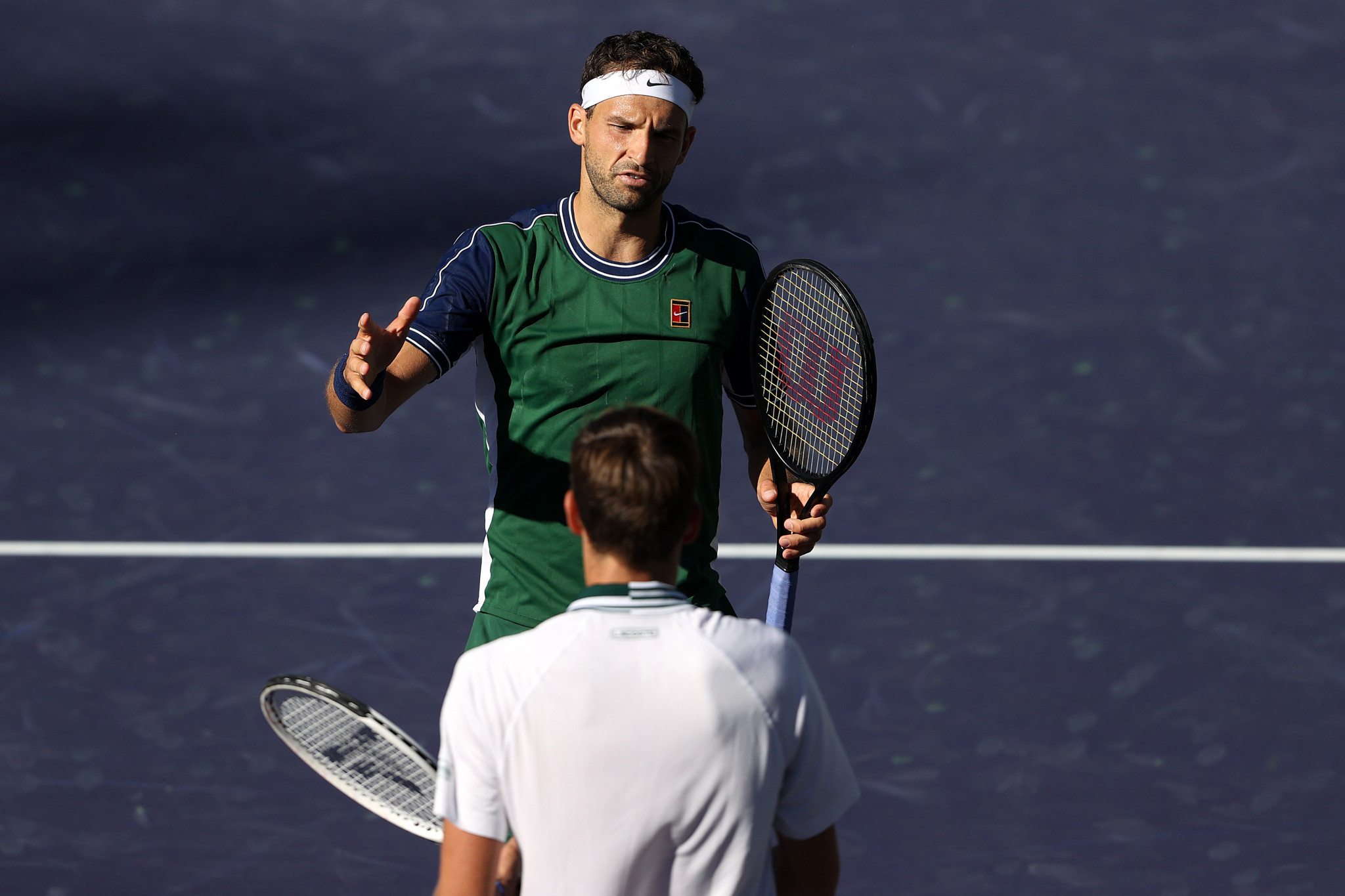 US Open champion Medvedev falls victim to Dimitrov comeback at Indian Wells Masters