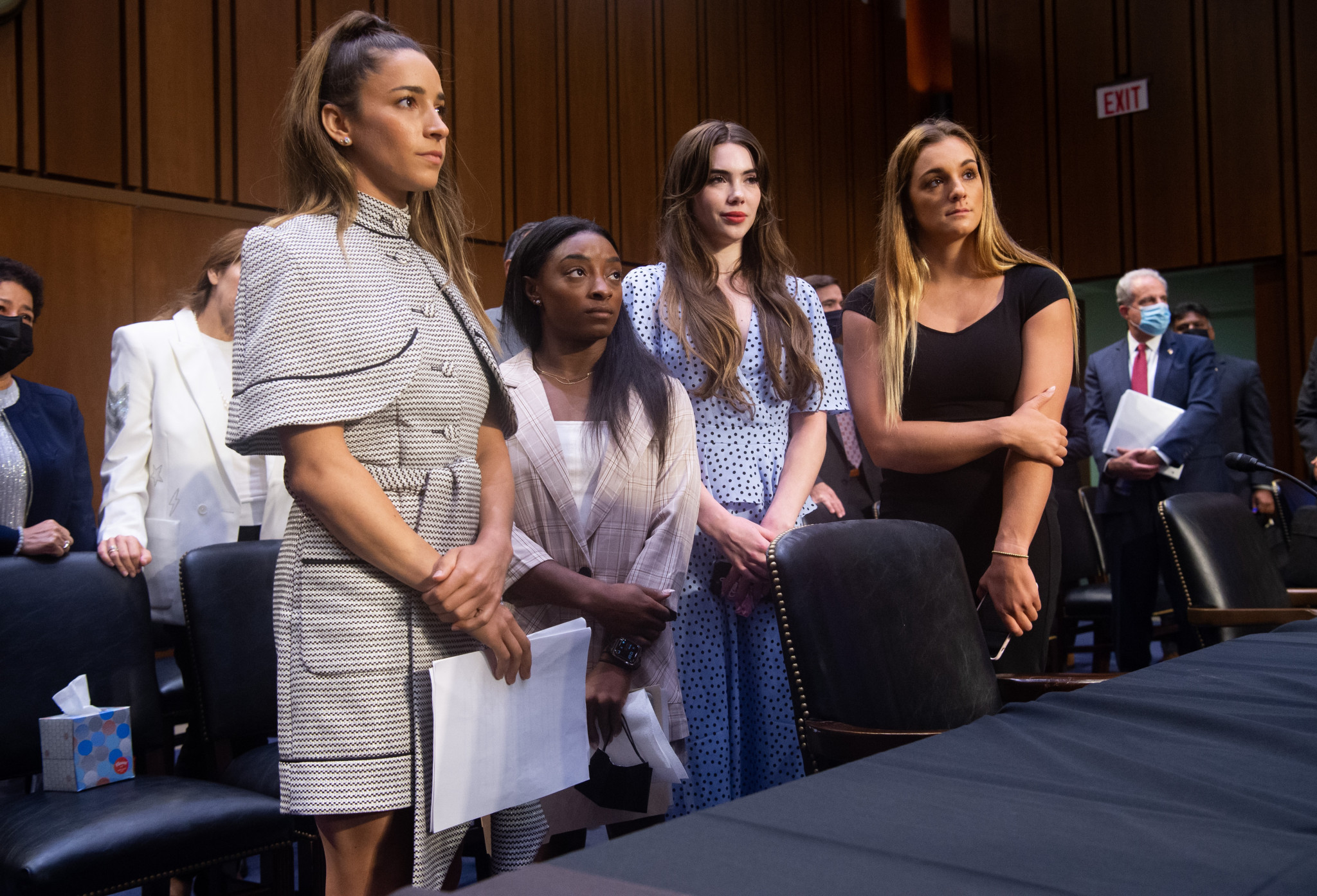 Gymnastic stars call on Congress to dissolve USOPC Board over Nassar scandal