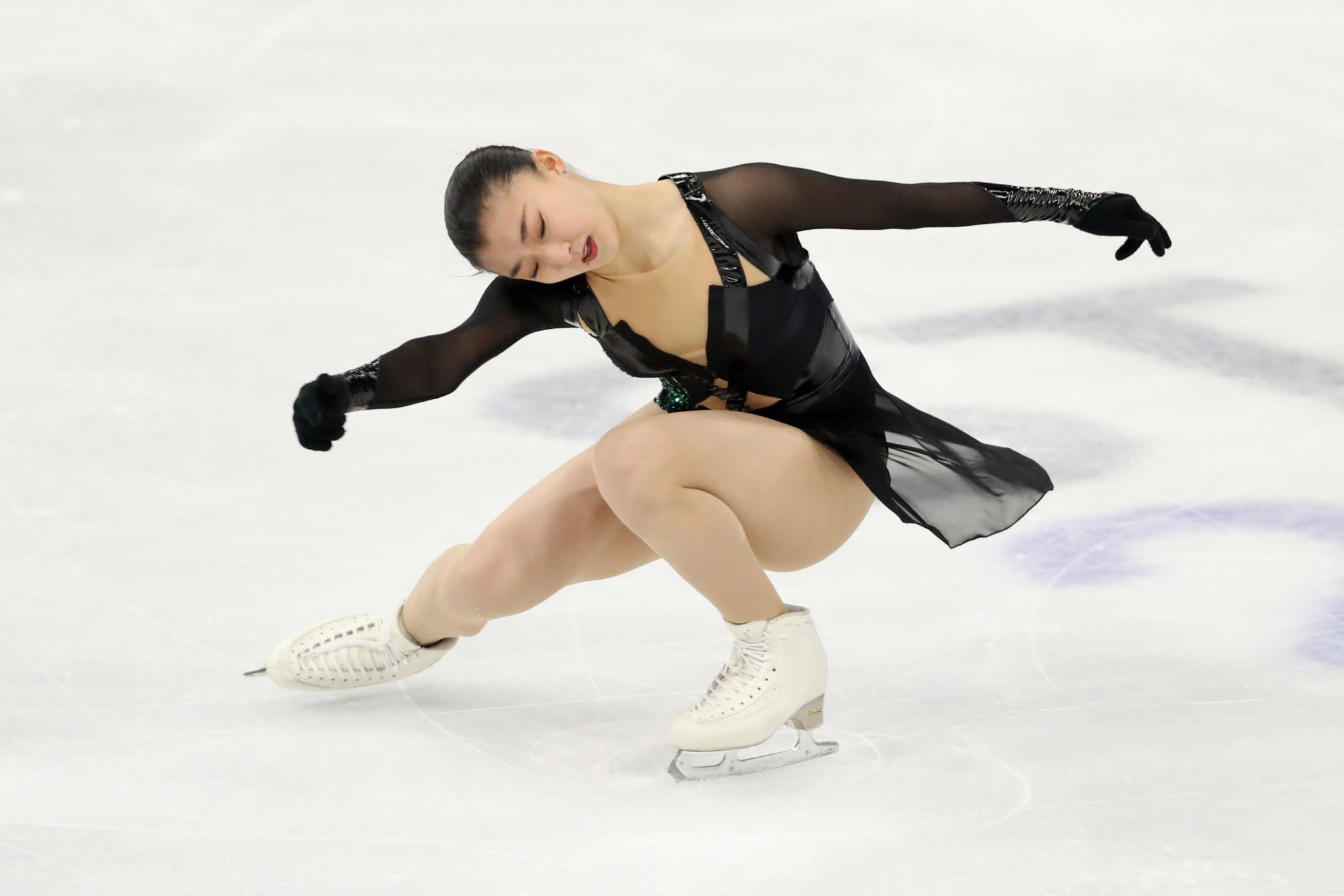 Kaori Sakamoto impressed in the women's short programme at the Capital Indoor Stadium in Beijing ©Getty Images