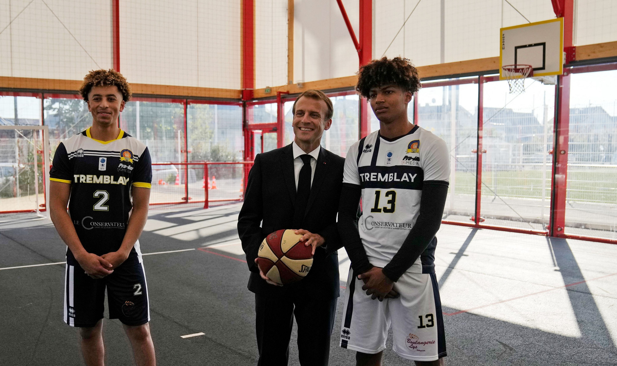 Macron visits Paris 2024 venues and details plan to build thousands of local sporting facilities