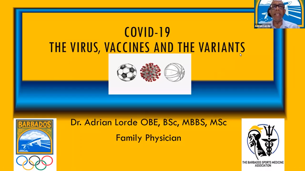 Barbados Olympic Association holds seminar encouraging COVID-19 vaccinations