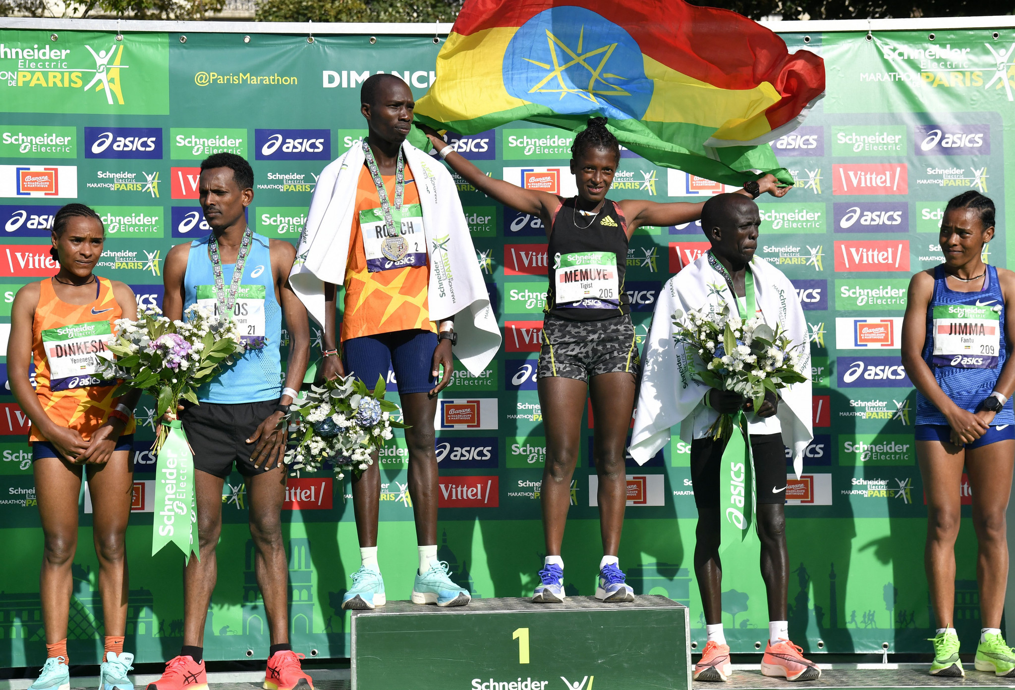 Rotich sets new course record to win men's Paris Marathon, while Ethiopia secures all three women's podium places