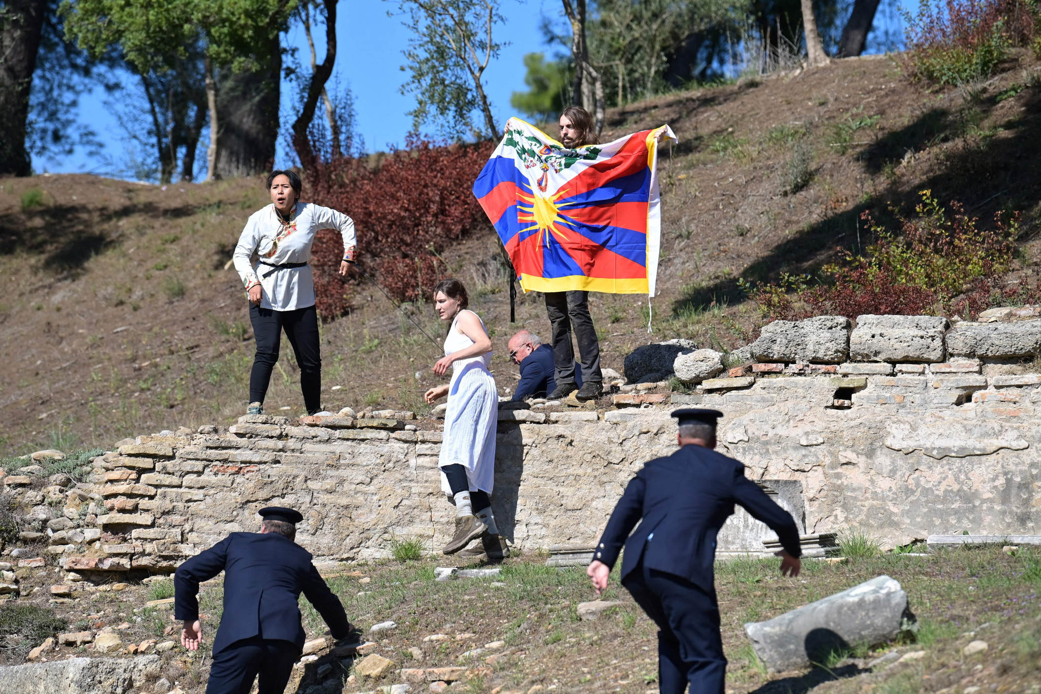 Beijing 2022 Flame Lighting Ceremony overshadowed by human rights protests in Ancient Olympia