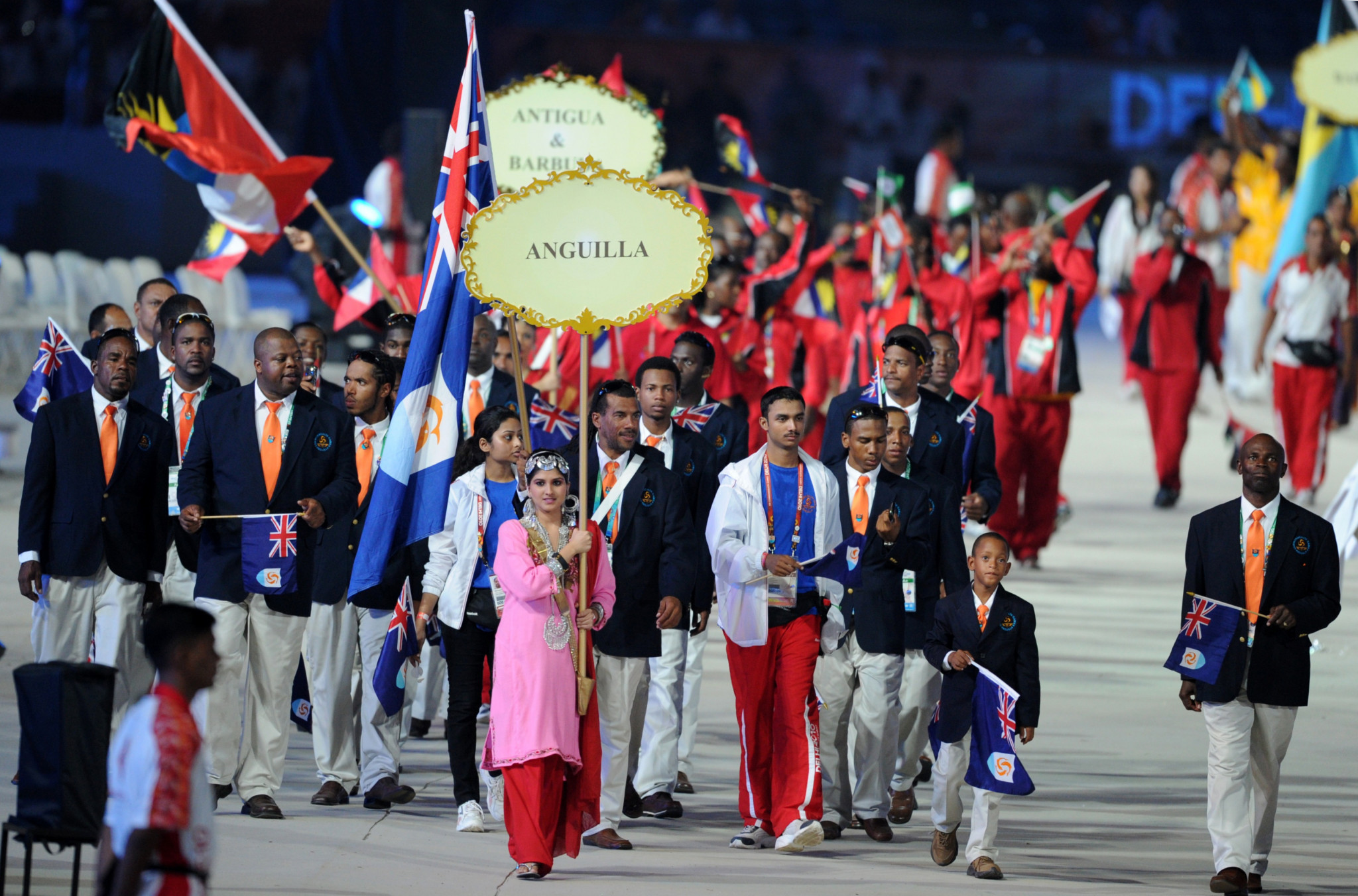 Anguilla at the 2010 Commonwealth Games in New Delhi ©Getty Images
