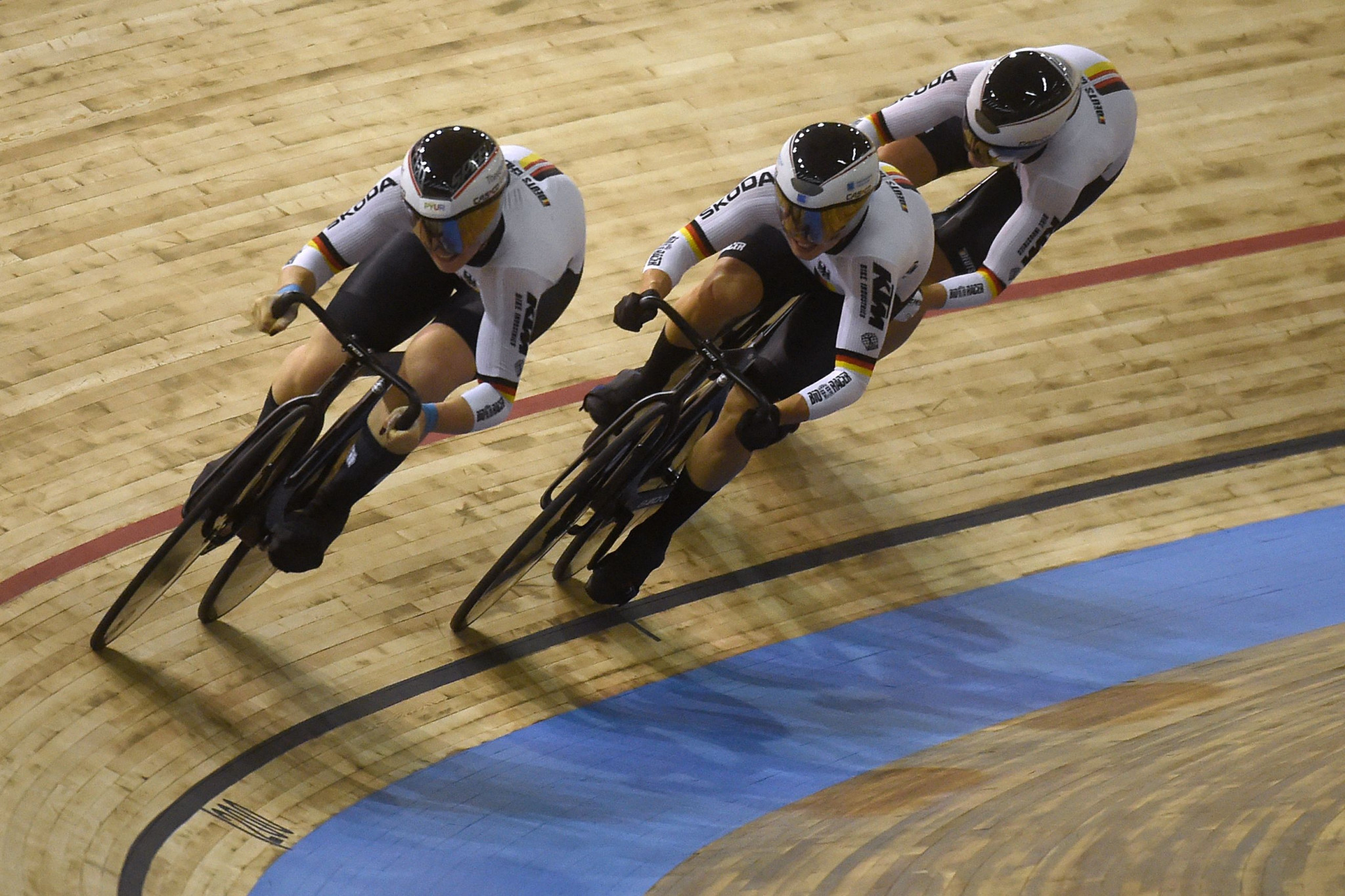 Germany triumph in women's team sprint on opening day of UCI Track Cycling World Championships