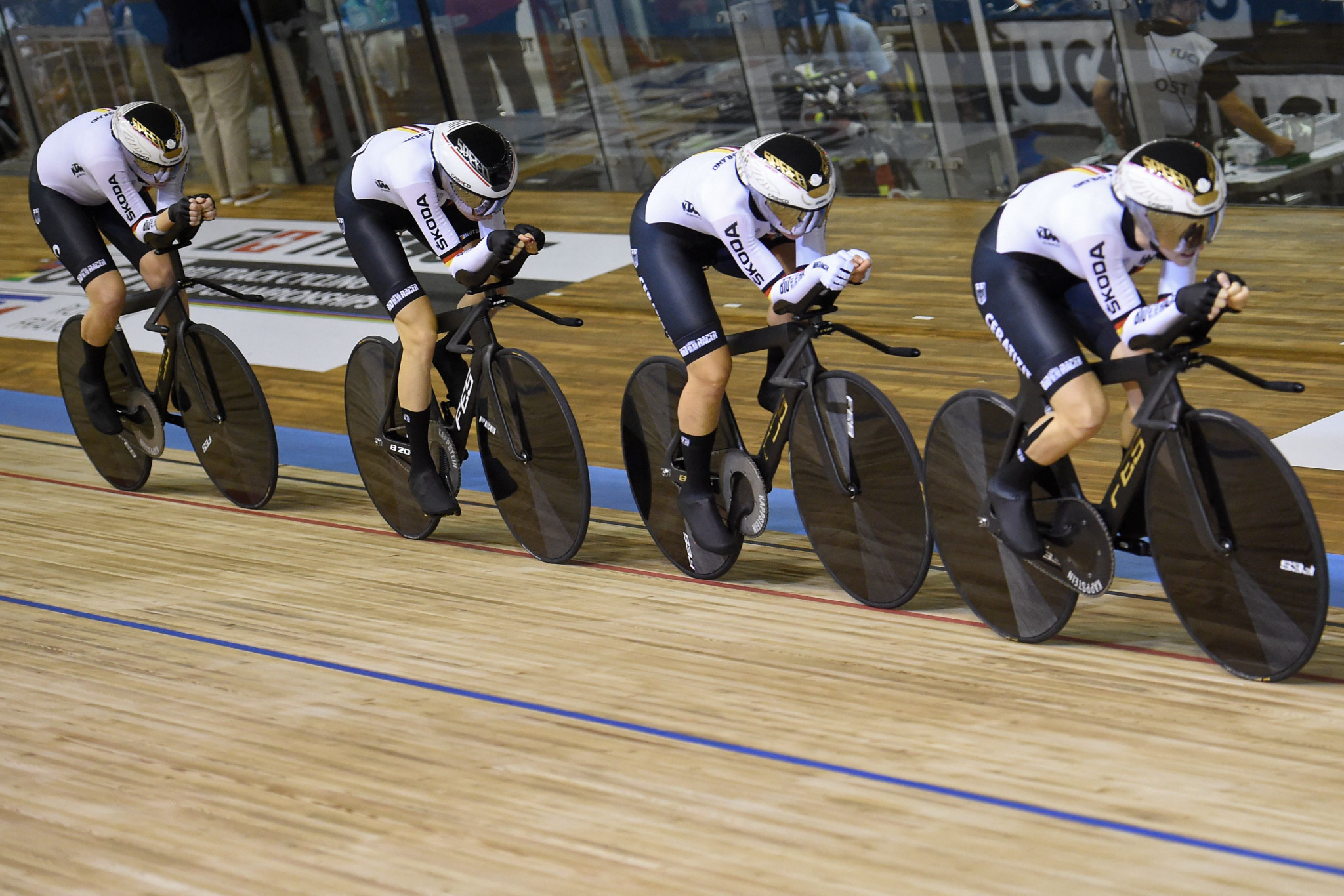 German women's pursuit team win Track Cycling World Championships gold to add to Olympic title